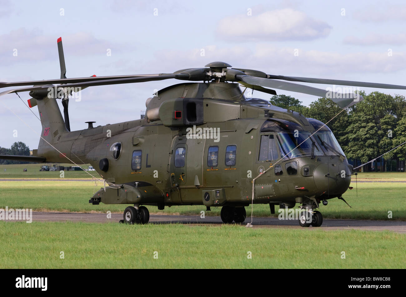 Westland Merlin HC3 operated by the RAF at RAF Benson, Oxfordshire, UK. - Stock Image