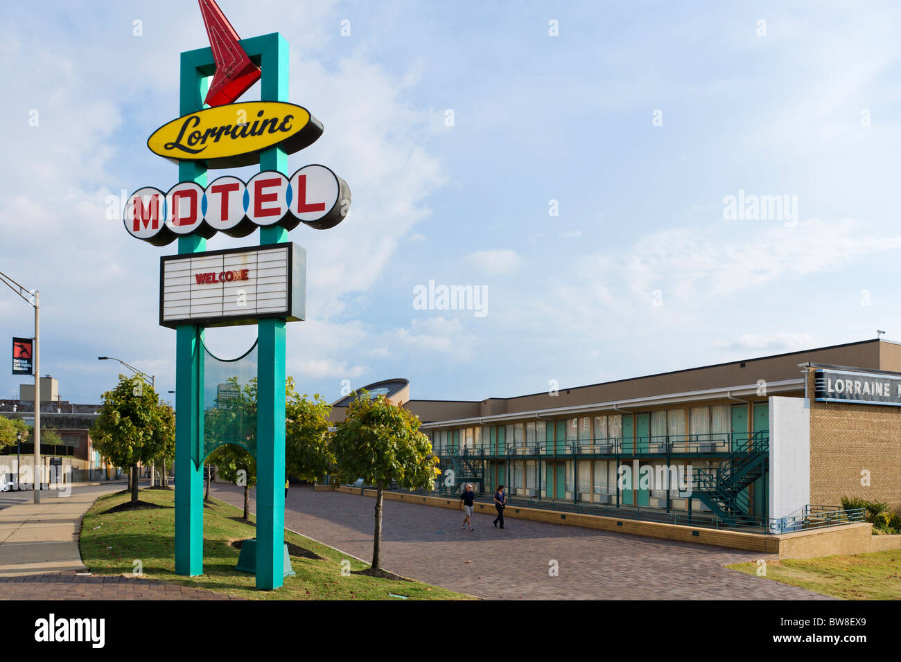 The Lorraine Motel, site of Martin Luther King Jr assassination, National Civil Rights Museum, Memphis, Tennesse, Stock Photo