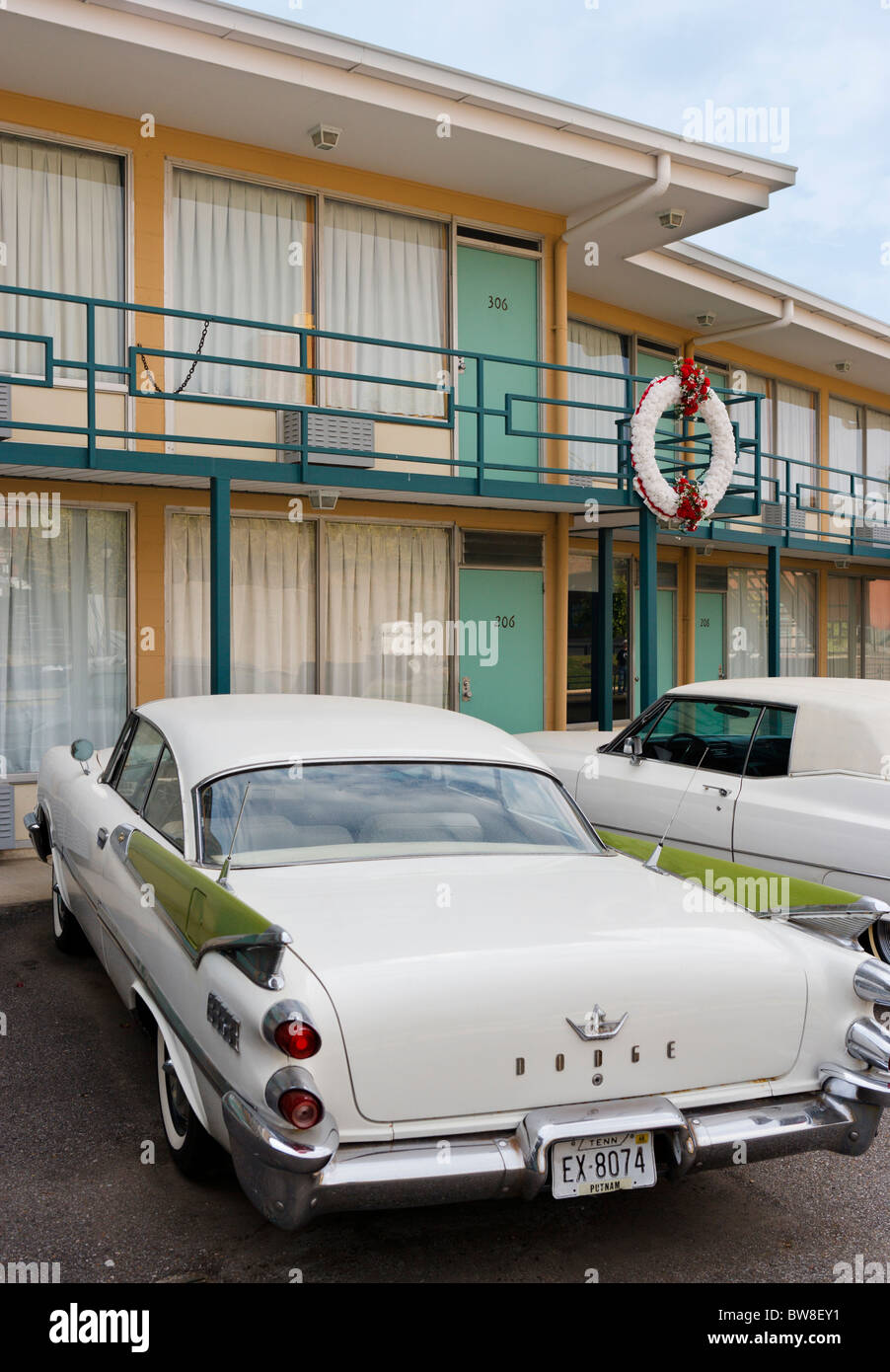 Room 306 at the Lorraine Motel, site of Martin Luther King Jr's assassination, National Civil Rights Museum, Memphis, Tennesse Stock Photo