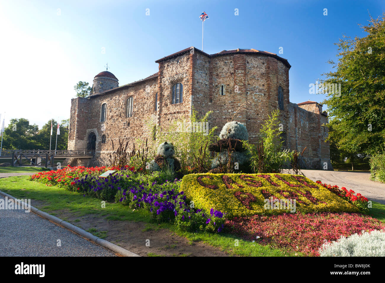 Castle Park in Colchester, Essex, UK - Stock Image