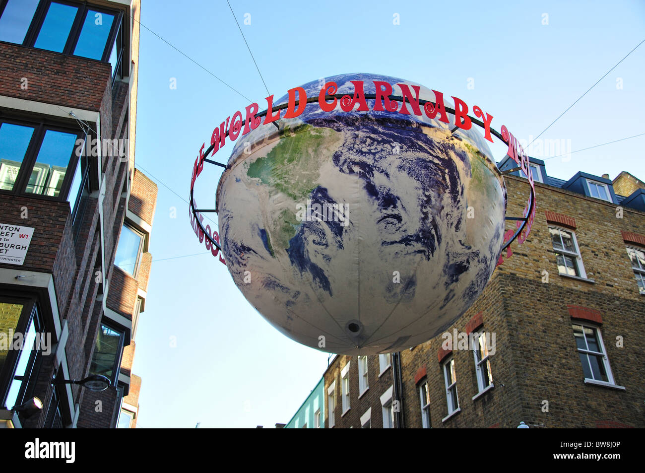 Carnaby Street, Soho, West End, City of Westminster, Greater London, England, United Kingdom - Stock Image