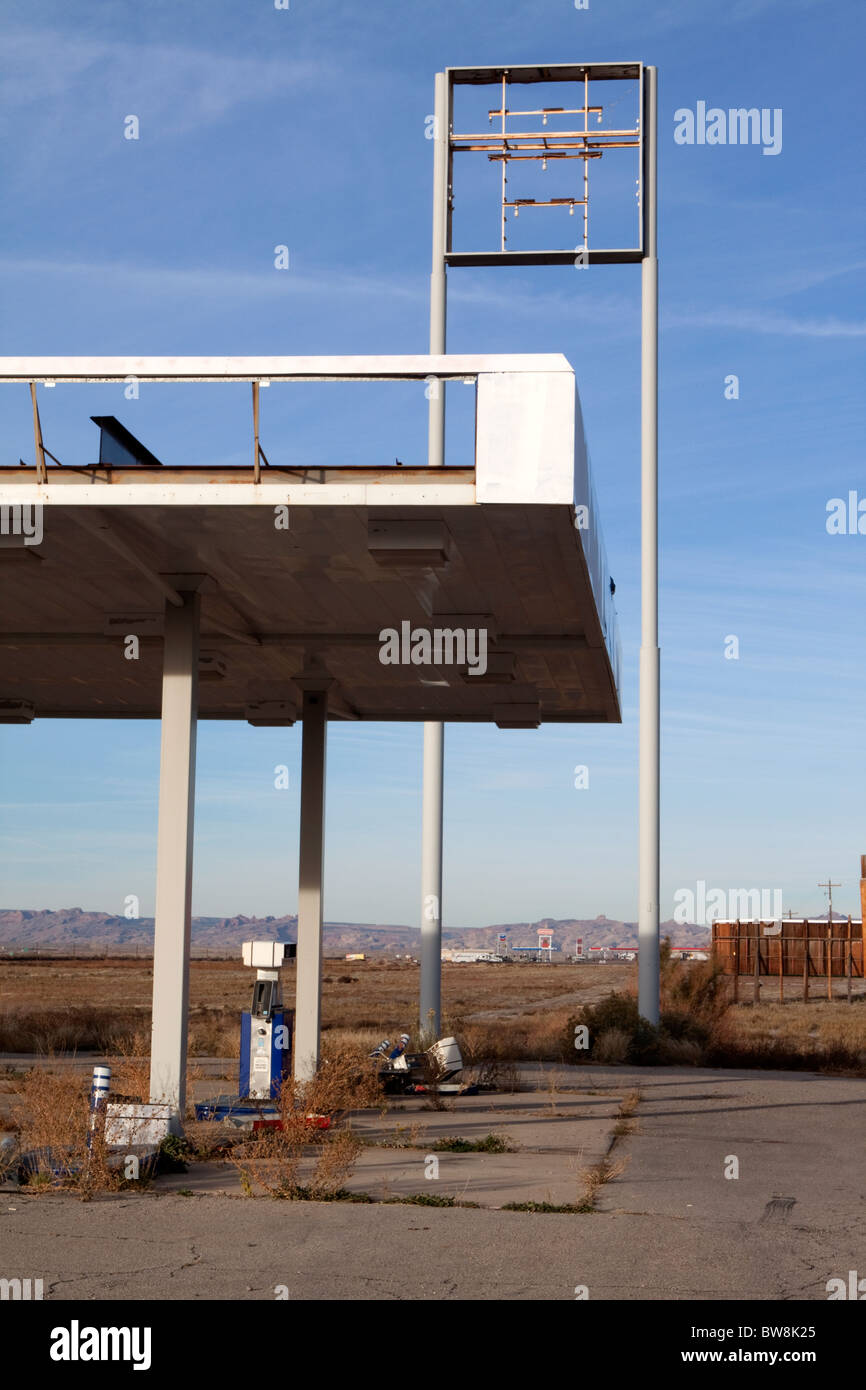 Abandoned Gas Station In Eastern Utah Usa Stock Photo Alamy