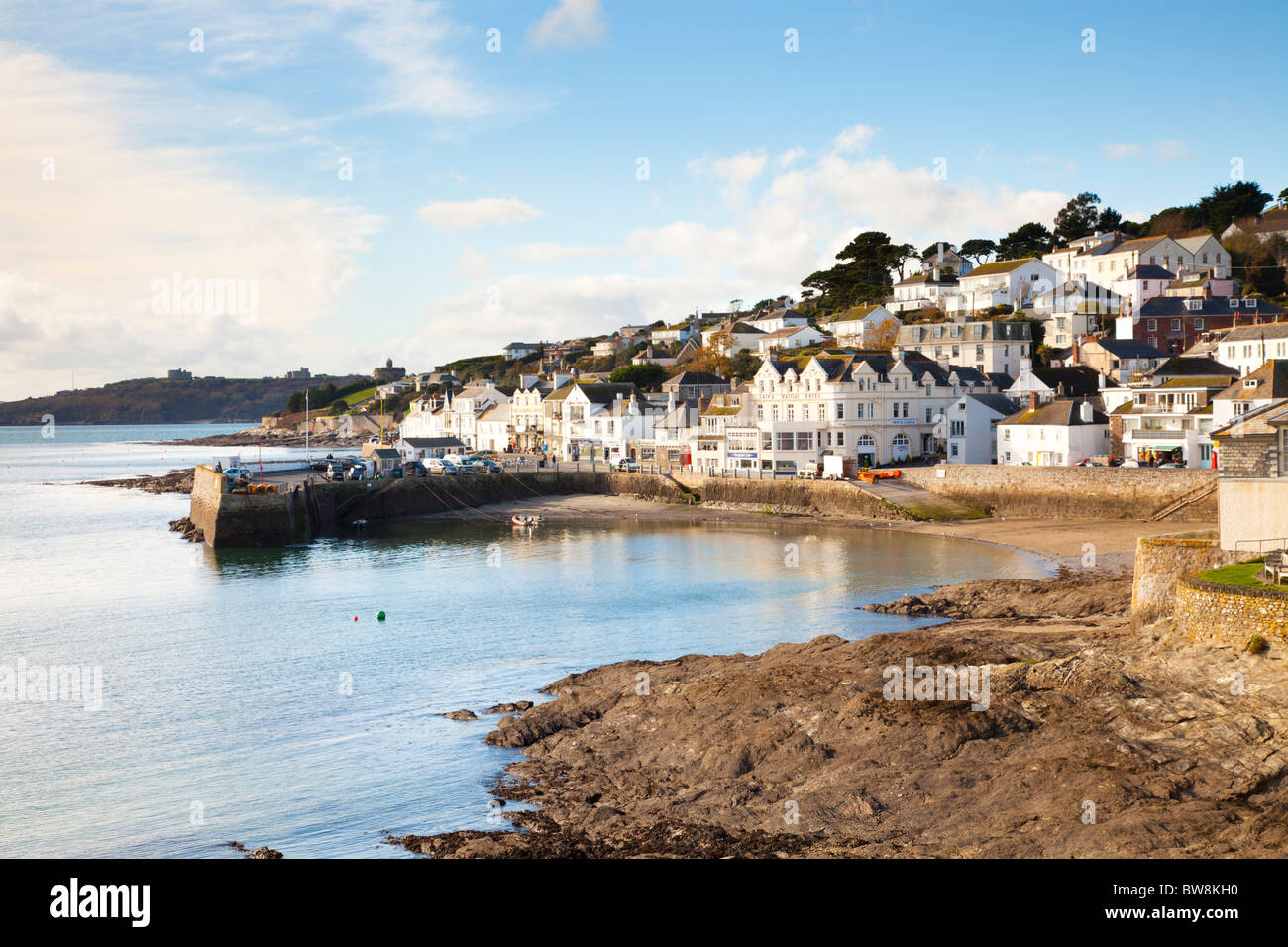 The seaside village of St Mawes Cornwall England - Stock Image