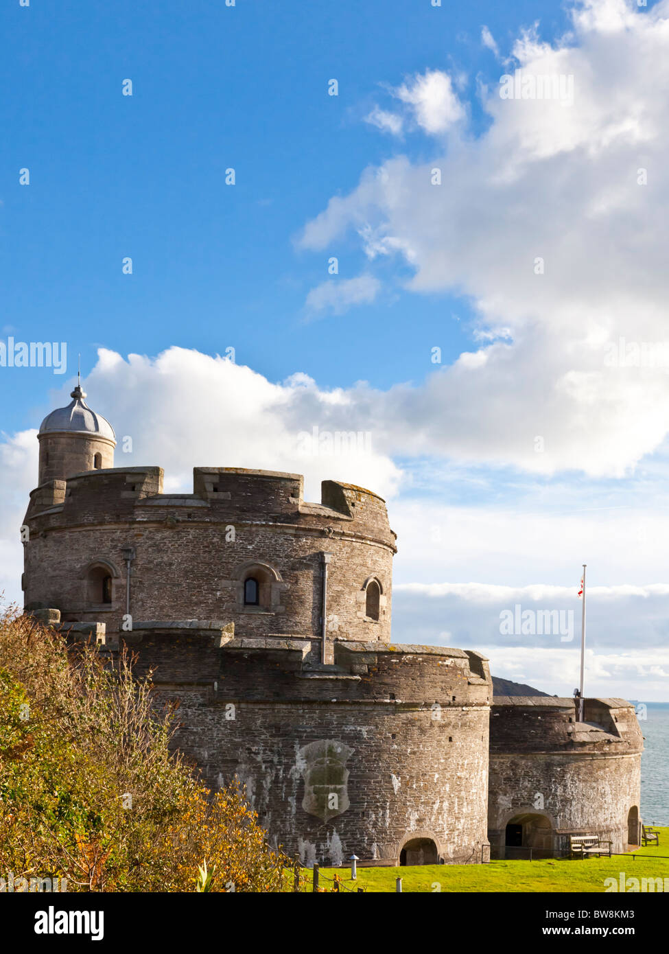 St Mawes Castle Cornwall England - Stock Image