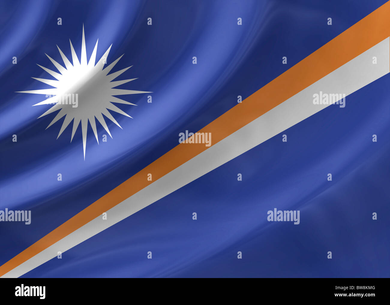 Marshall Islands flag - Stock Image