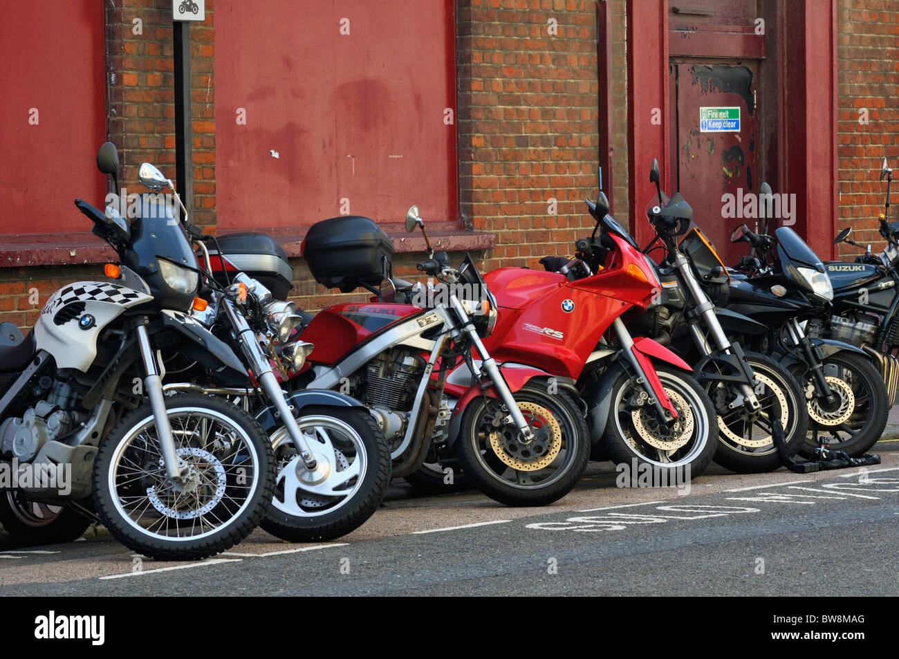 Motorcycle parking bay - Stock Image