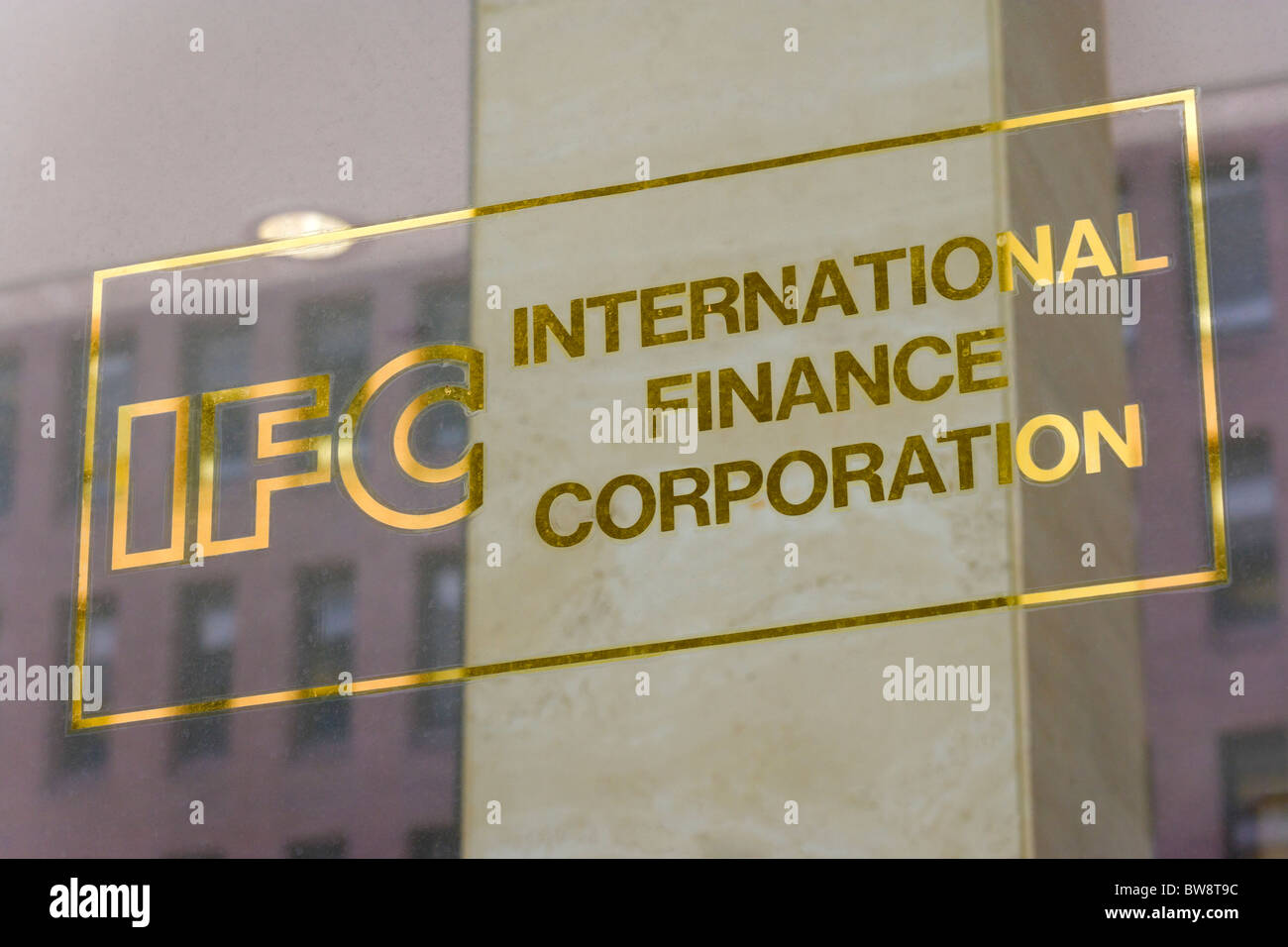 Logo sign of the IFC International Finance Corporation part of World Bank Worldbank Group on office building in - Stock Image