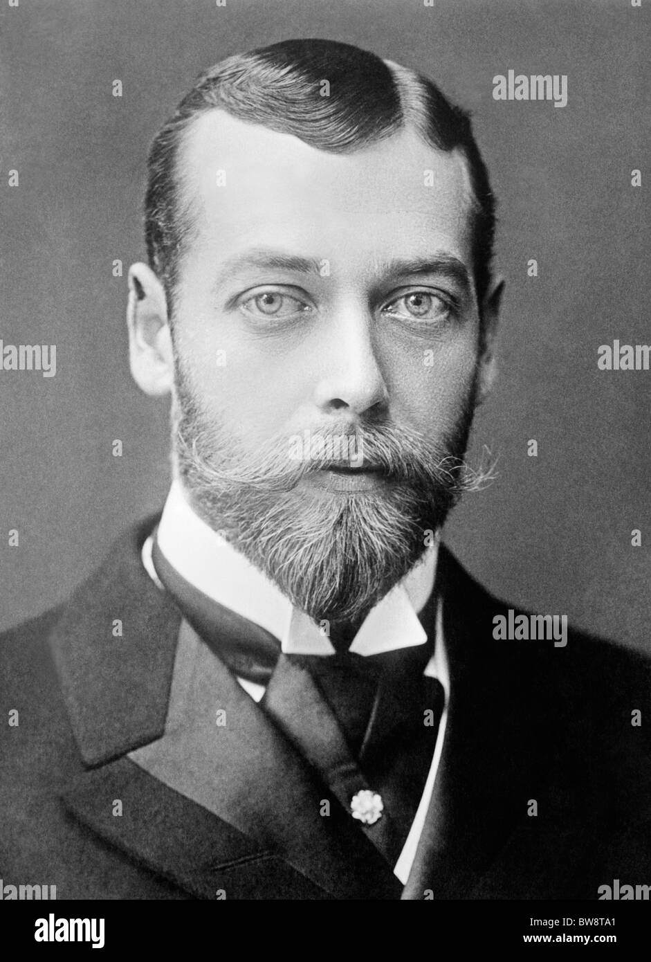 Portrait photo circa 1893 of George V (1865 - 1936) - King of the United Kingdom from May 6 1910 until his death Stock Photo