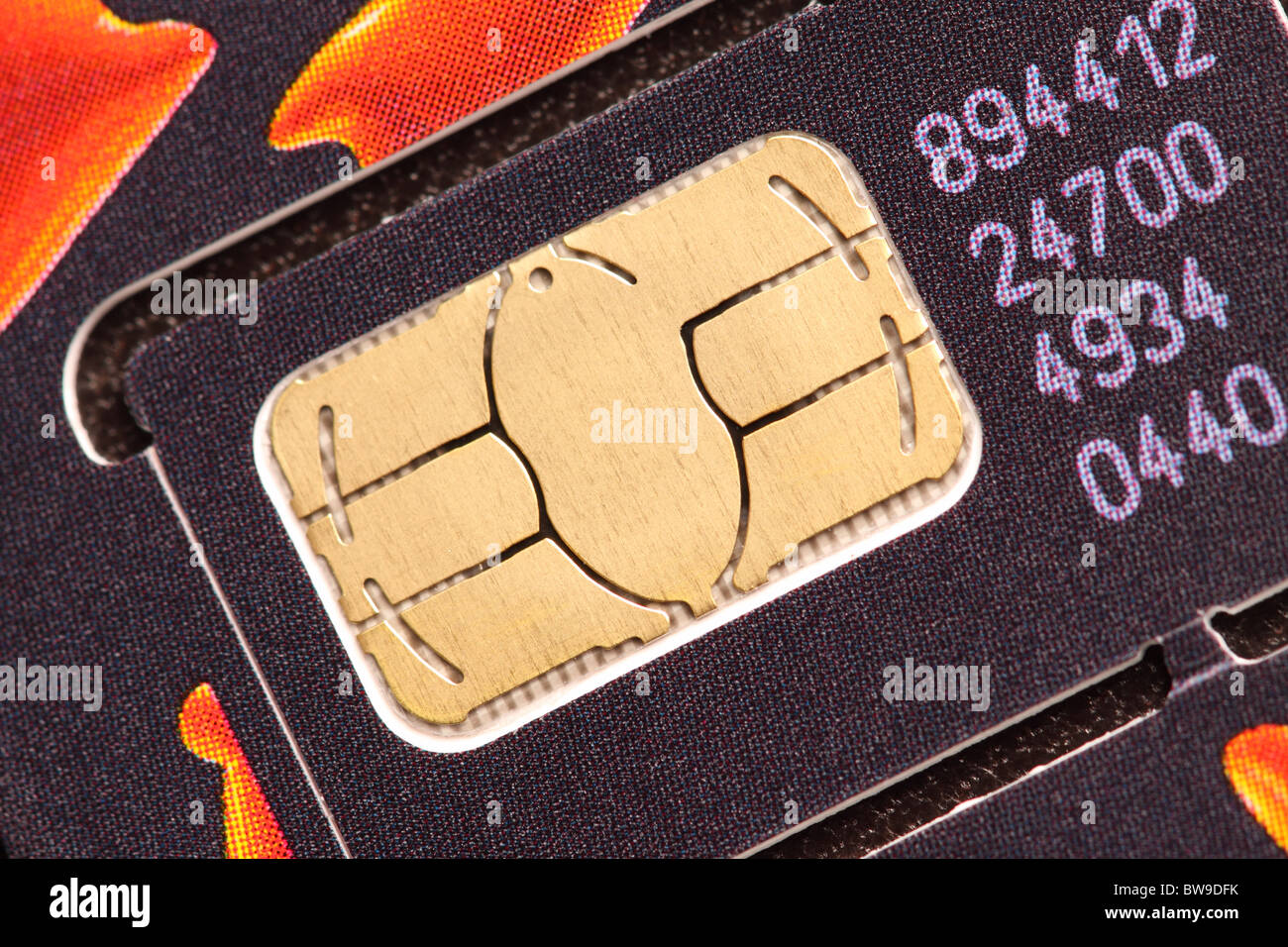 New Sim card for a Mobile Phone - Stock Image