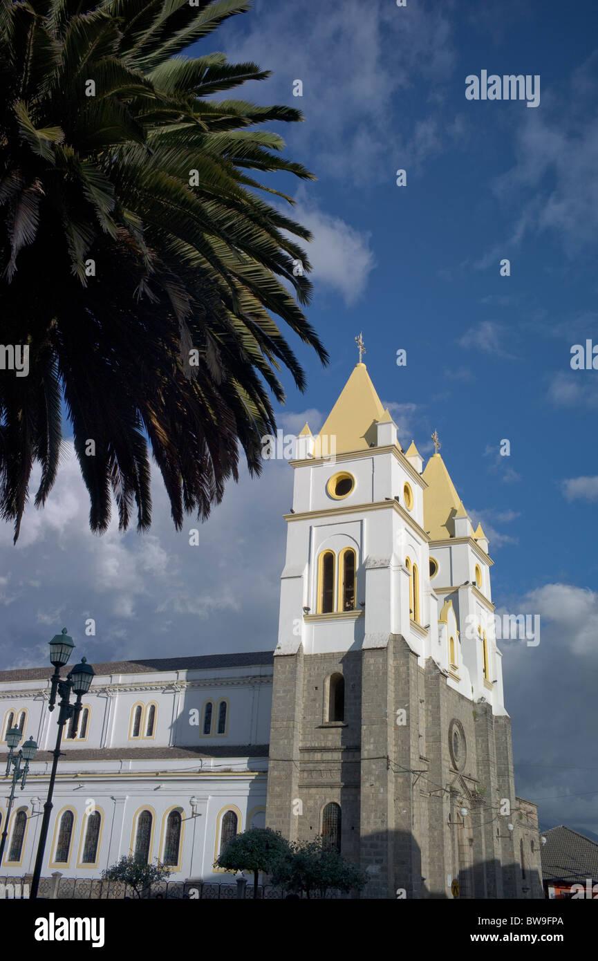 Cathedral on Plaza de Armas, Guaranda, Ecuador Stock Photo