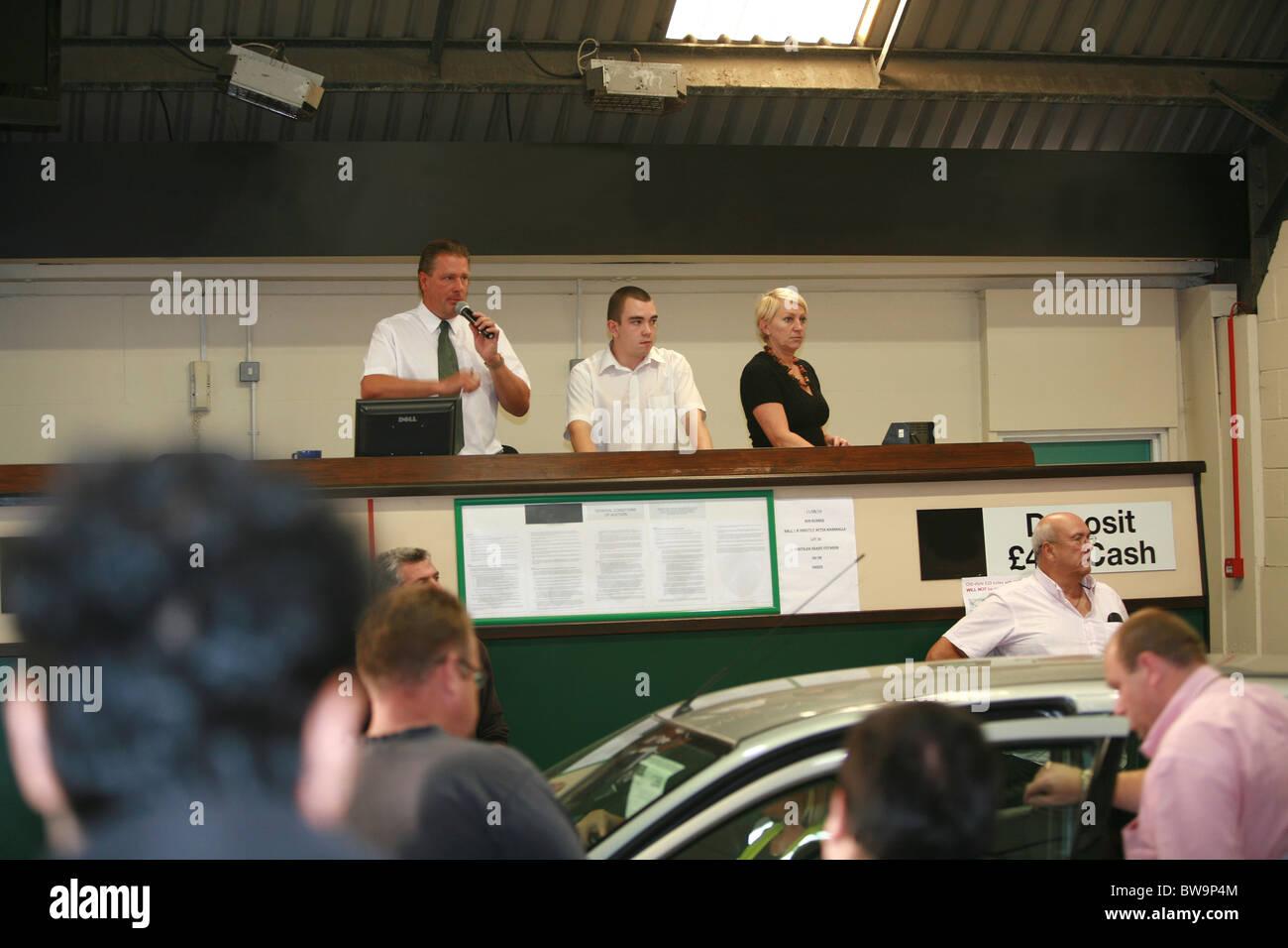 car auction - Stock Image