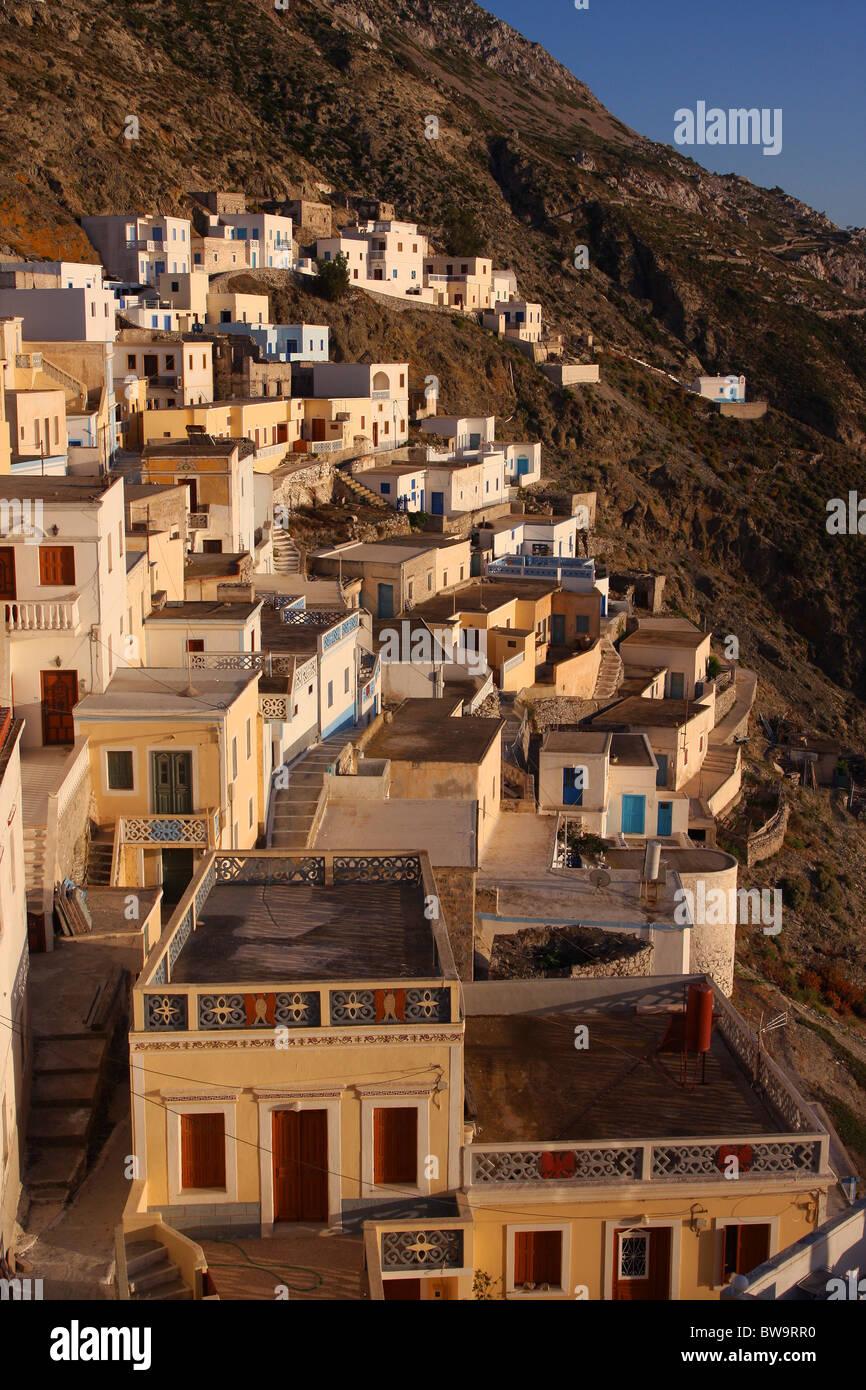 Olympos mountainous village in Karpathos island, Aegean sea, Greece Stock Photo