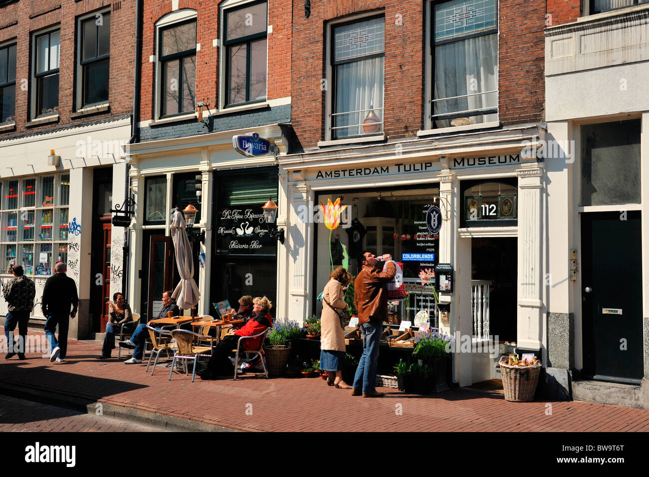 Amsterdam Tulip Museum prinsengracht in the Netherlands - Stock Image