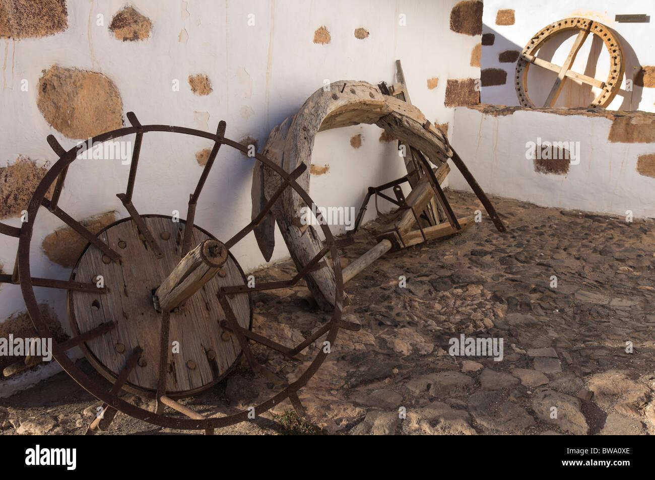 Fuerteventura, Canary Islands - El Alcogida Ecomuseum, Tefia. Wheelwright and blacksmith work. - Stock Image