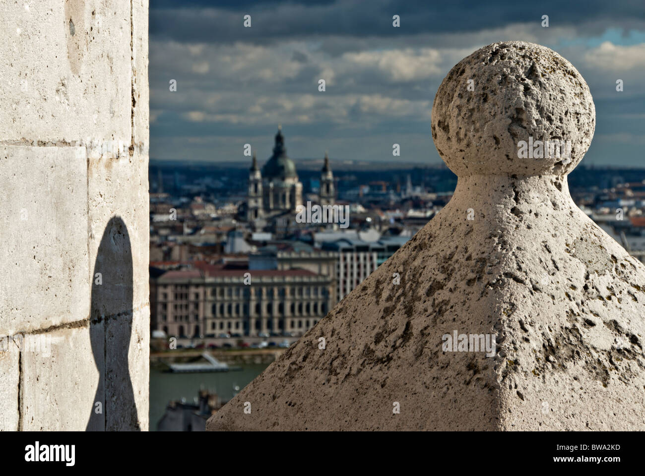 View of Budapest from the city of Buda. Hungary, Europe - Stock Image