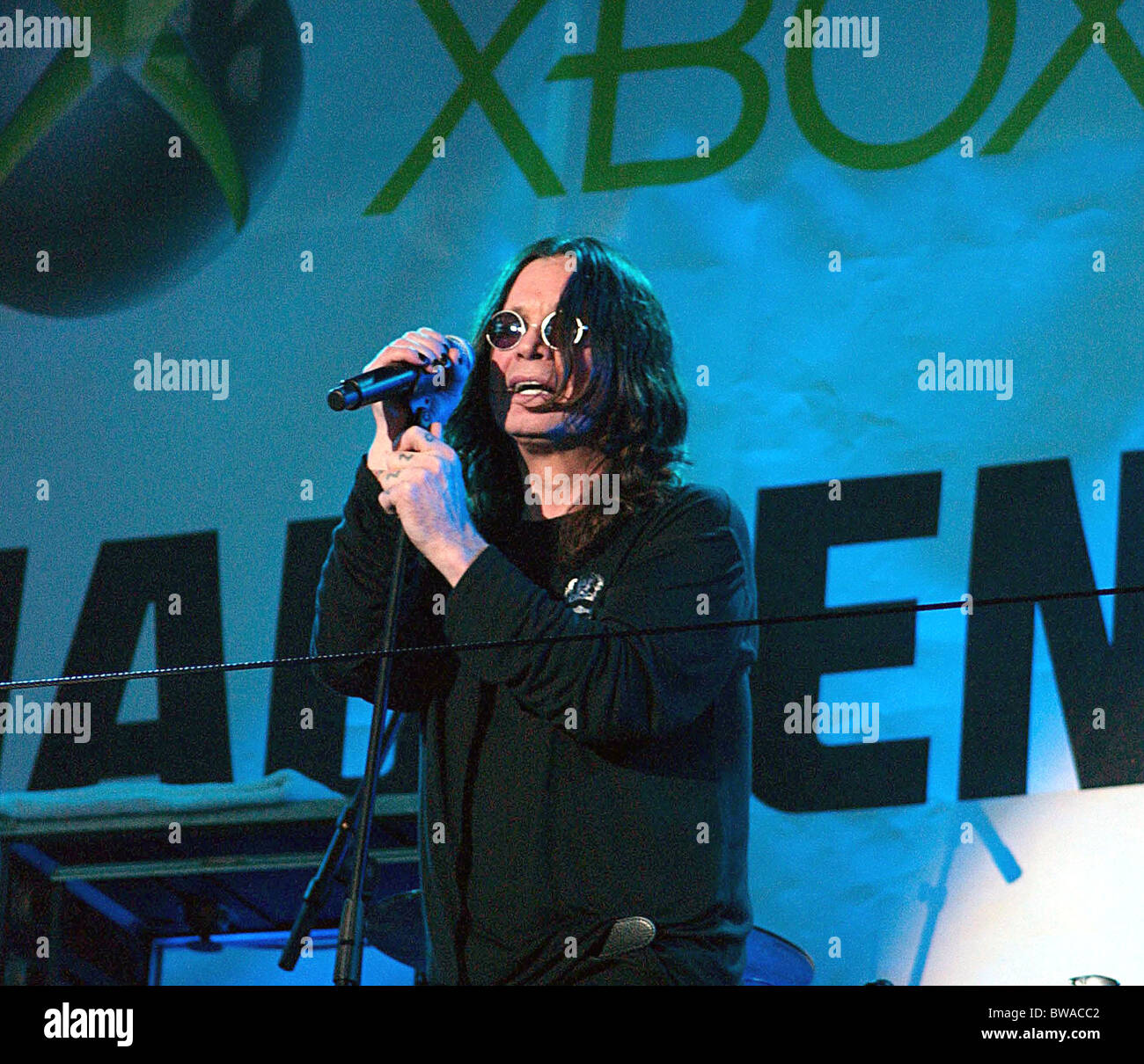 Launch Of Madden NFL 08 Videogame with Ozzy Osbourne Concert Stock