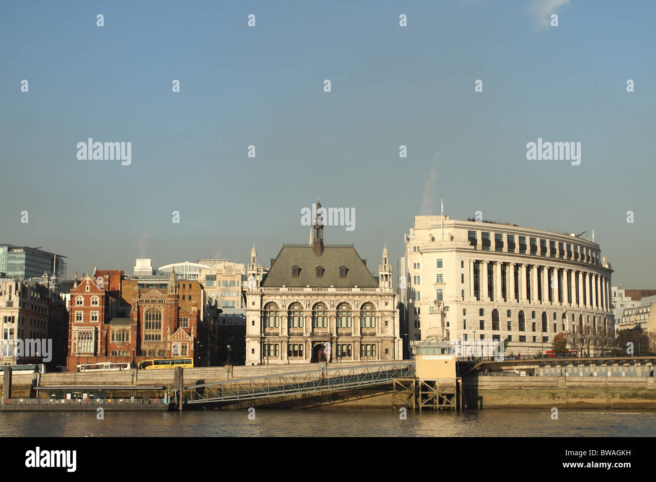 The Old City of London Boys school, taken over the river Thames - Stock Image