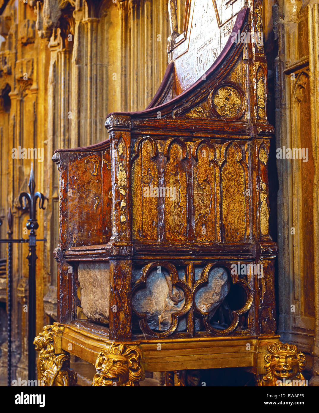 The Stone Of Scone Coronation Chair Westminster Abbey London UK & The Stone Of Scone Coronation Chair Westminster Abbey London UK ...