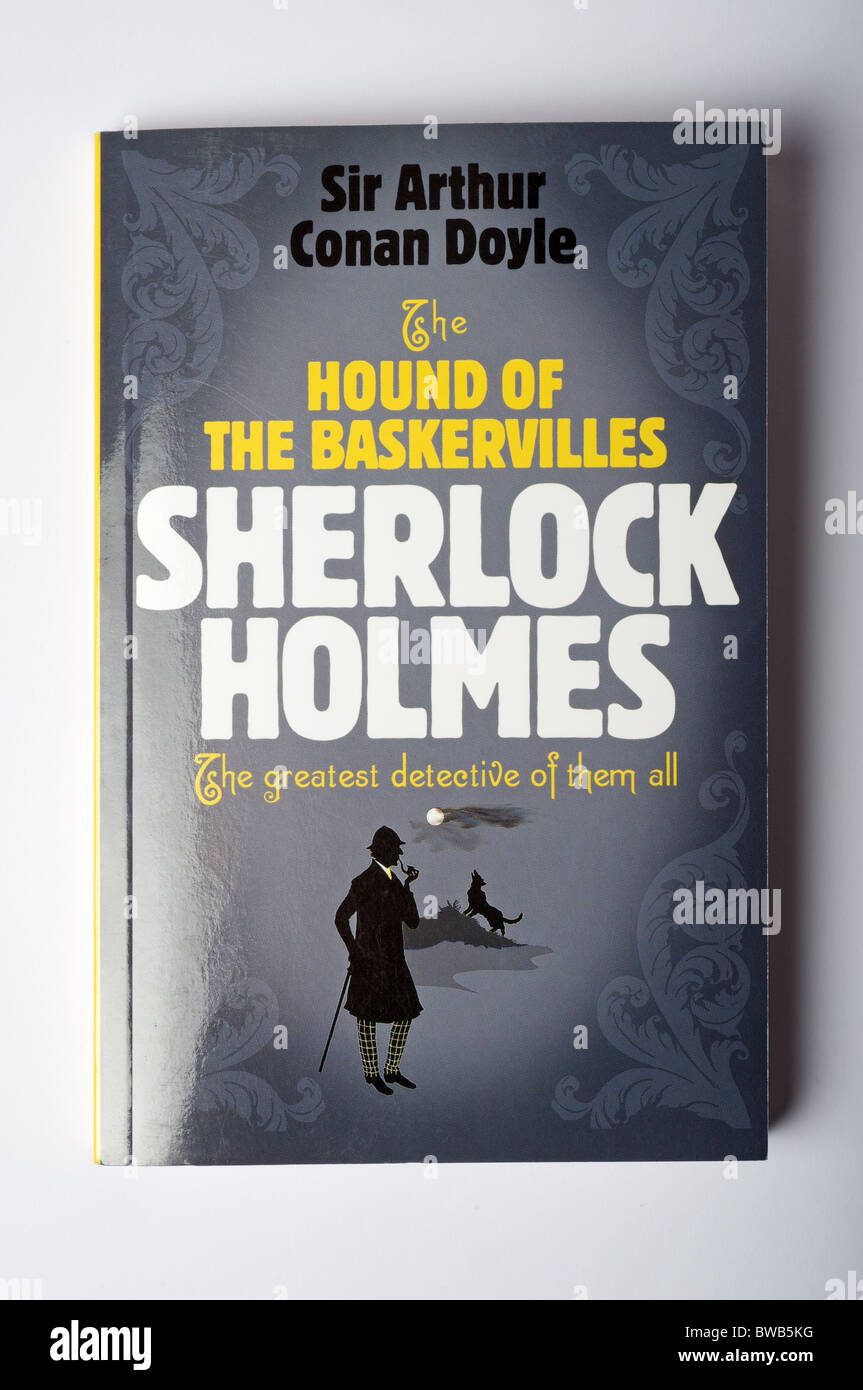 The Hound of the Baskervilles by Sir Arthur Conan Doyle - Stock Image