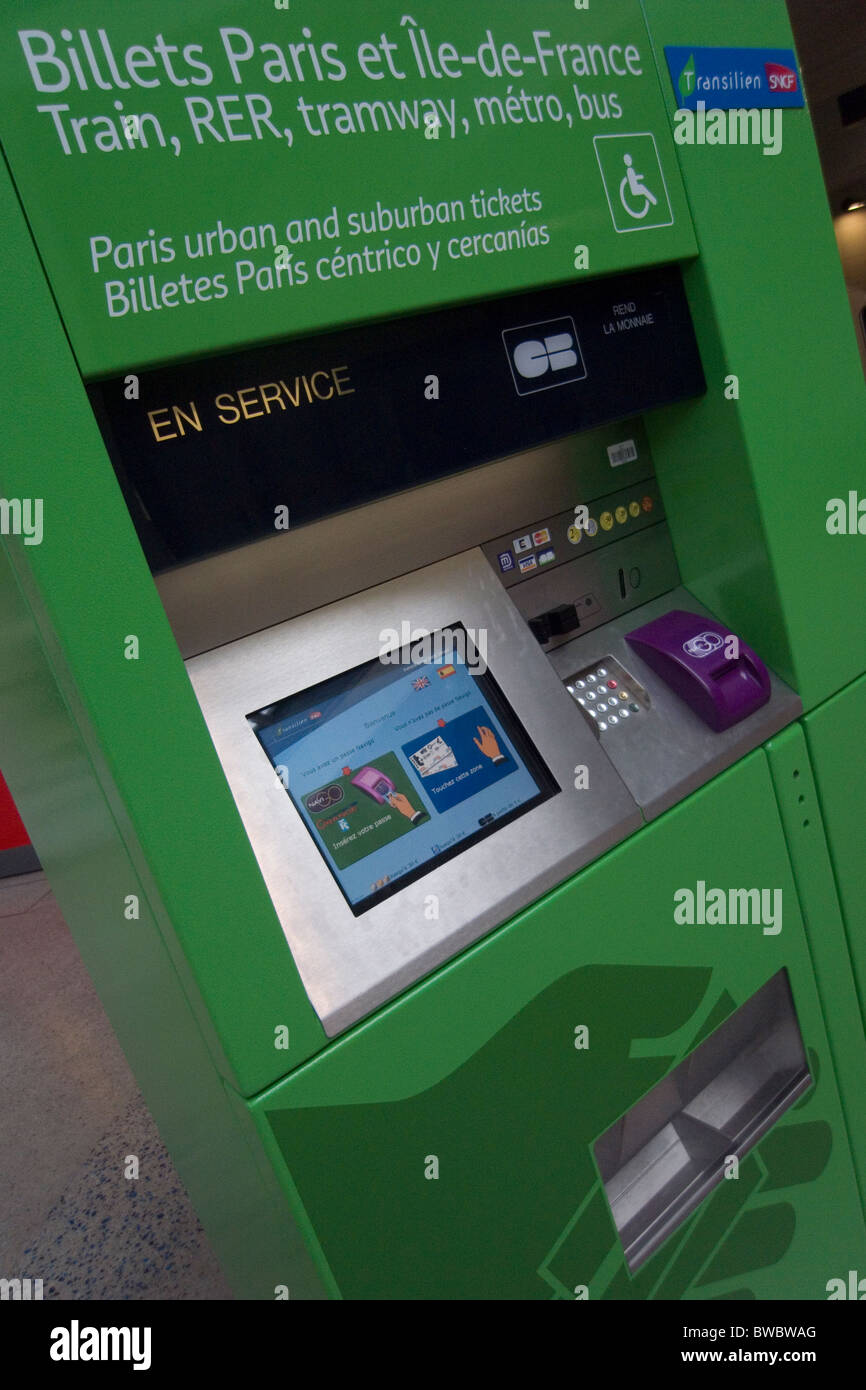 automatic train ticket machine - Stock Image