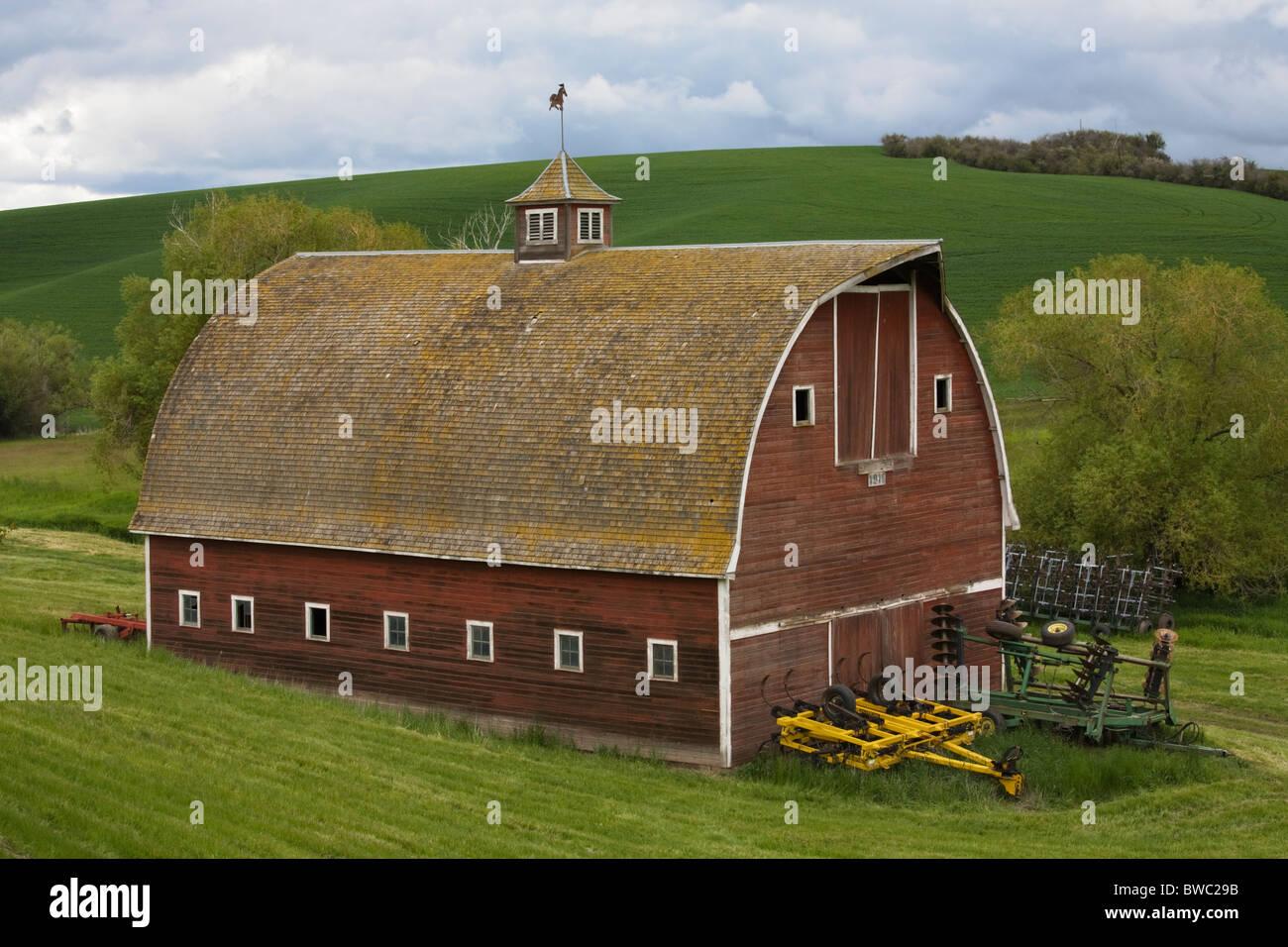 Rocking Horse Barn, Palouse, Washington State, USA - Stock Image