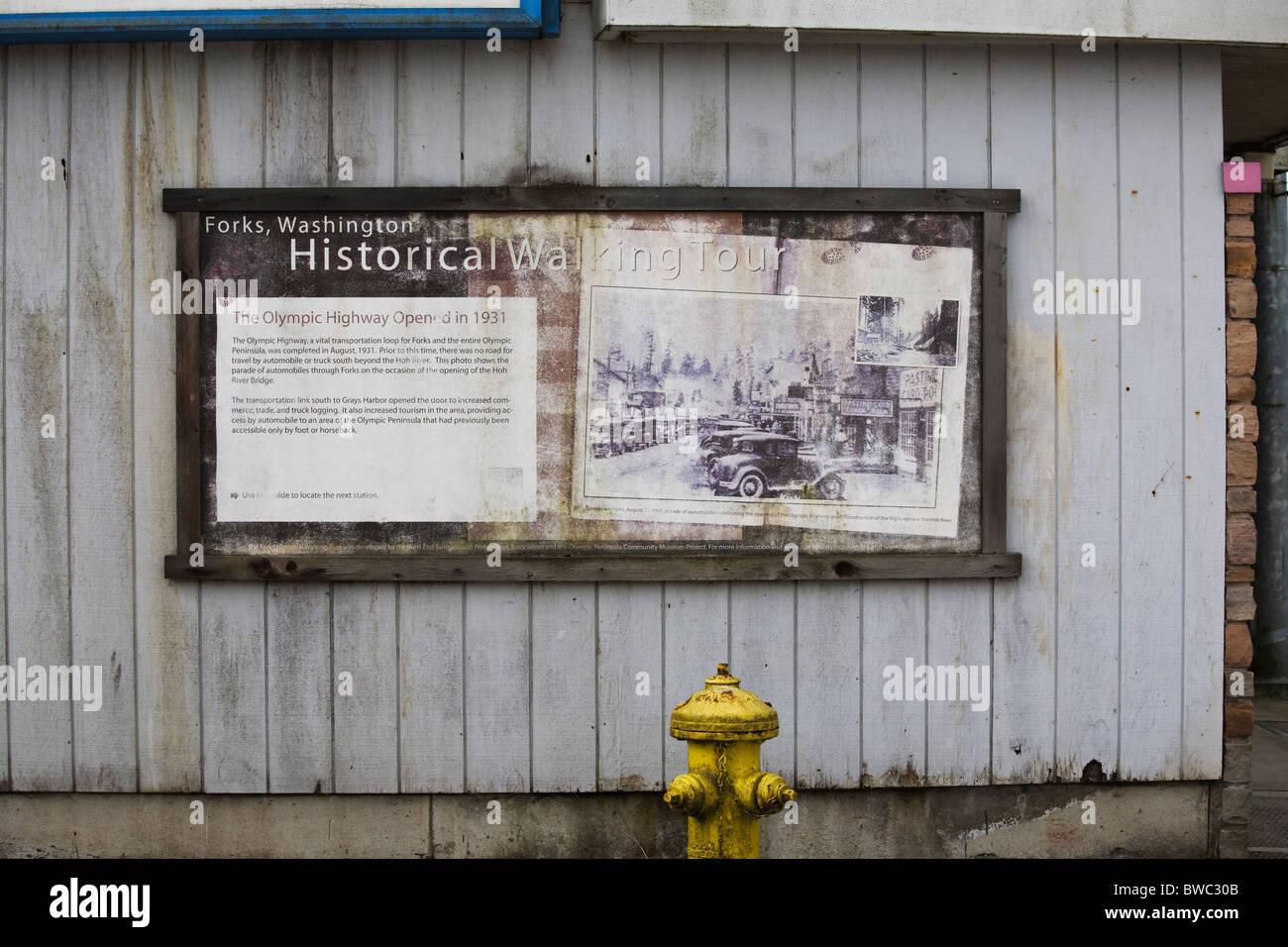 Historical photograph, Forks, Washington State, USA - Stock Image