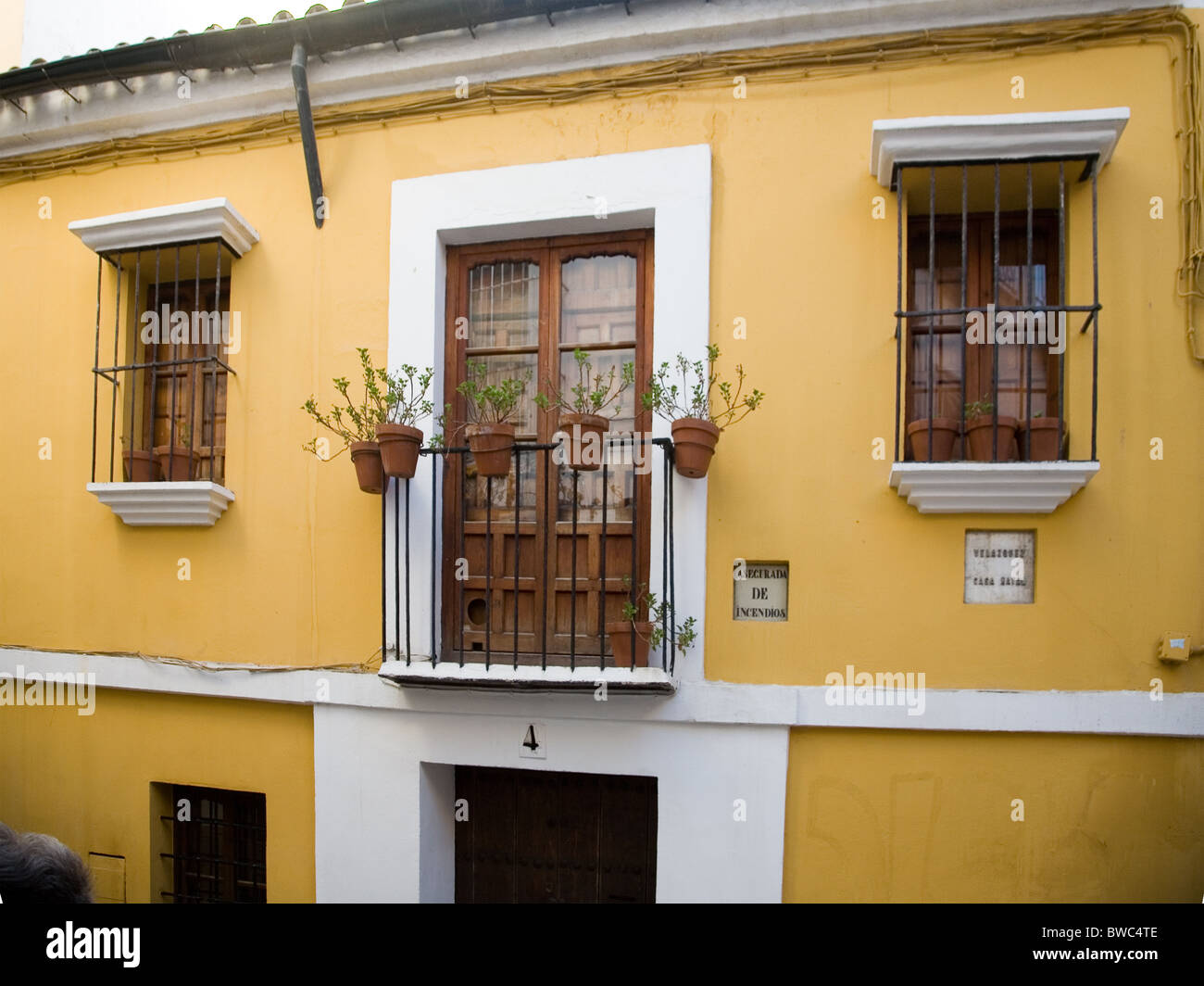 The house where Diego Velazquez was born in Seville, Spain, - June 6th 1599 - Stock Image