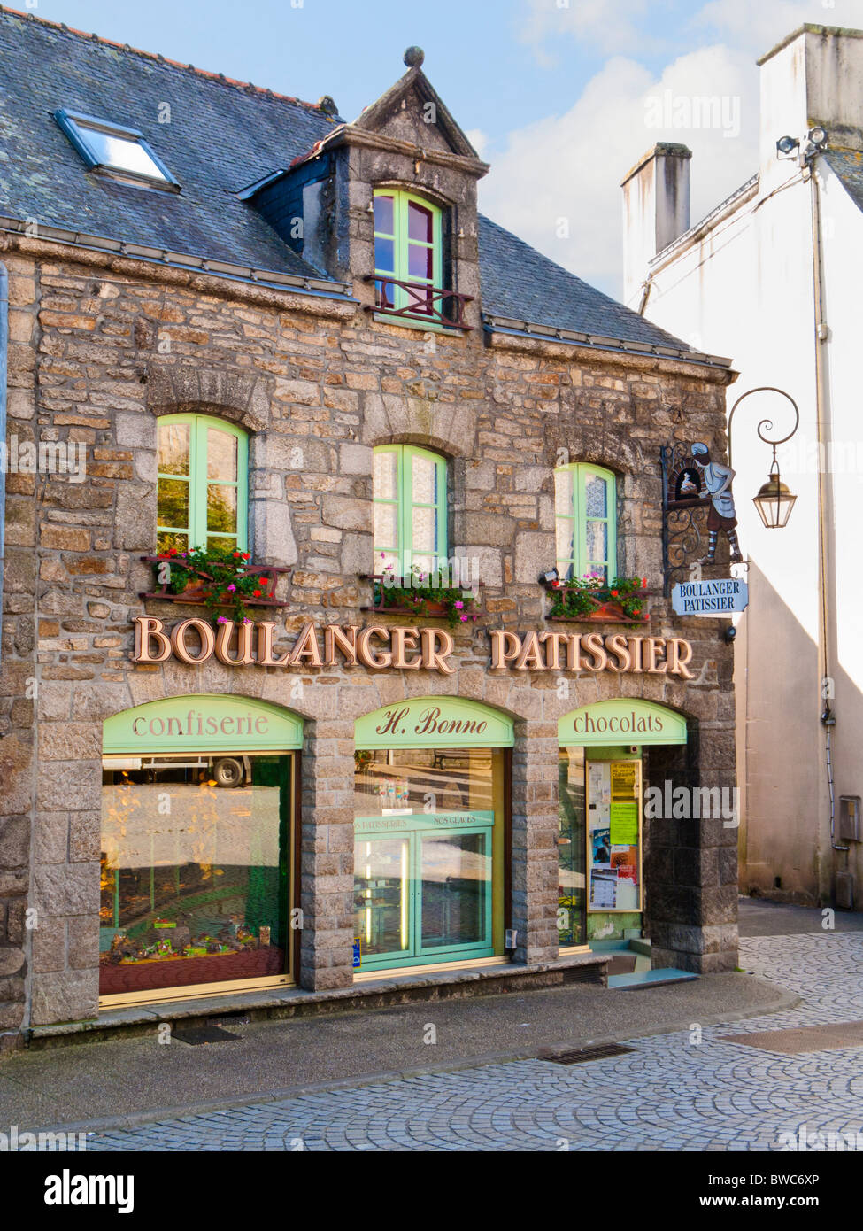 Old fashioned Boulangerie Patisserie shop in France Europe - Stock Image