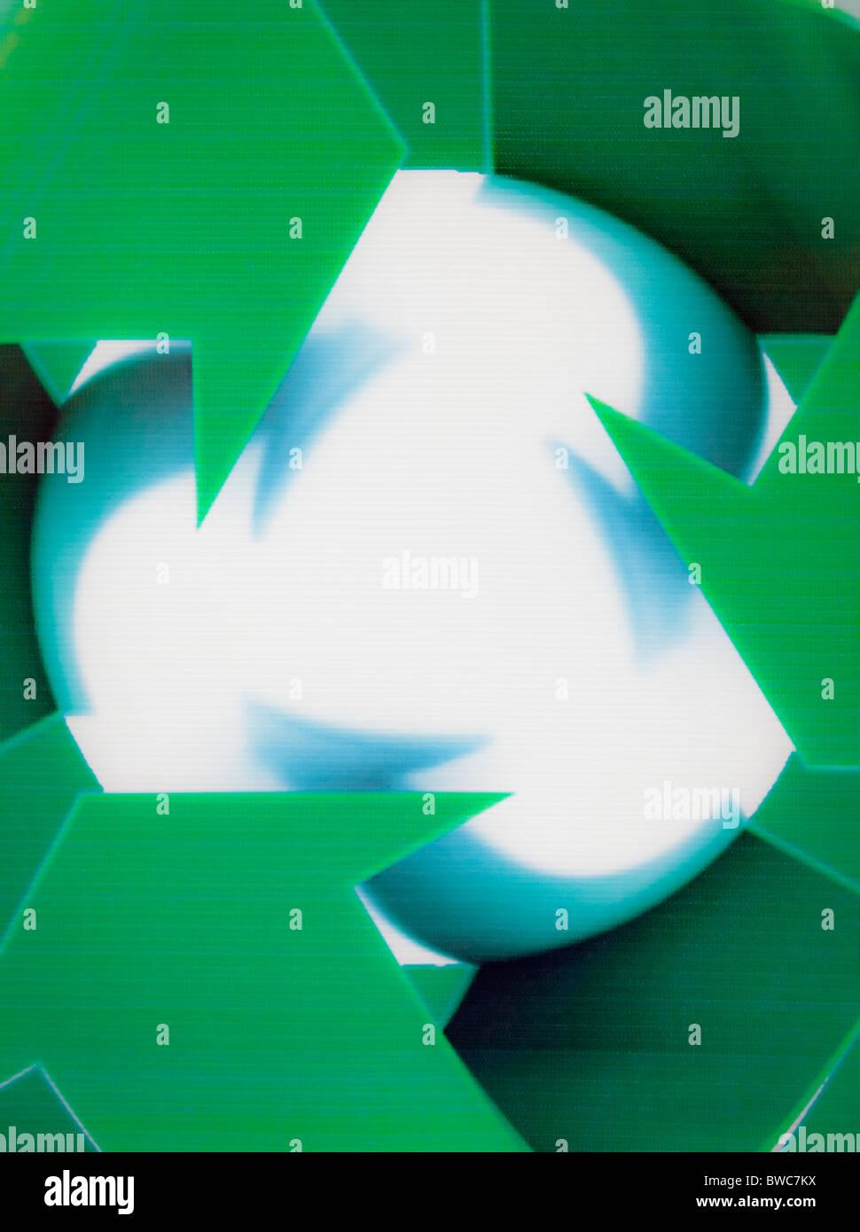 Recycling logo - Stock Image