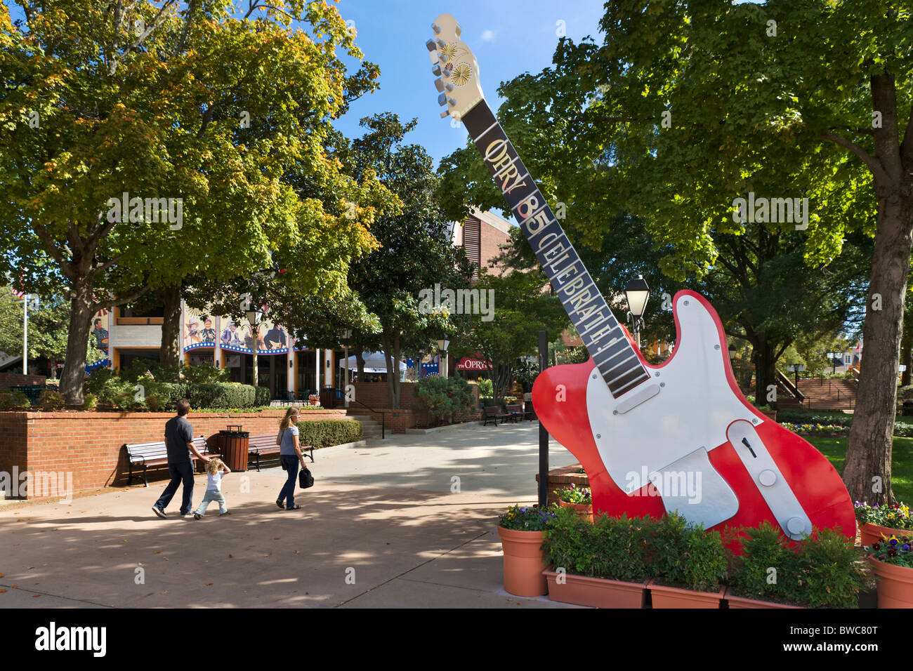 Entrance to the Grand Ole Opry, Opryland, Music Valley, Nashville, Tennessee, USA - Stock Image