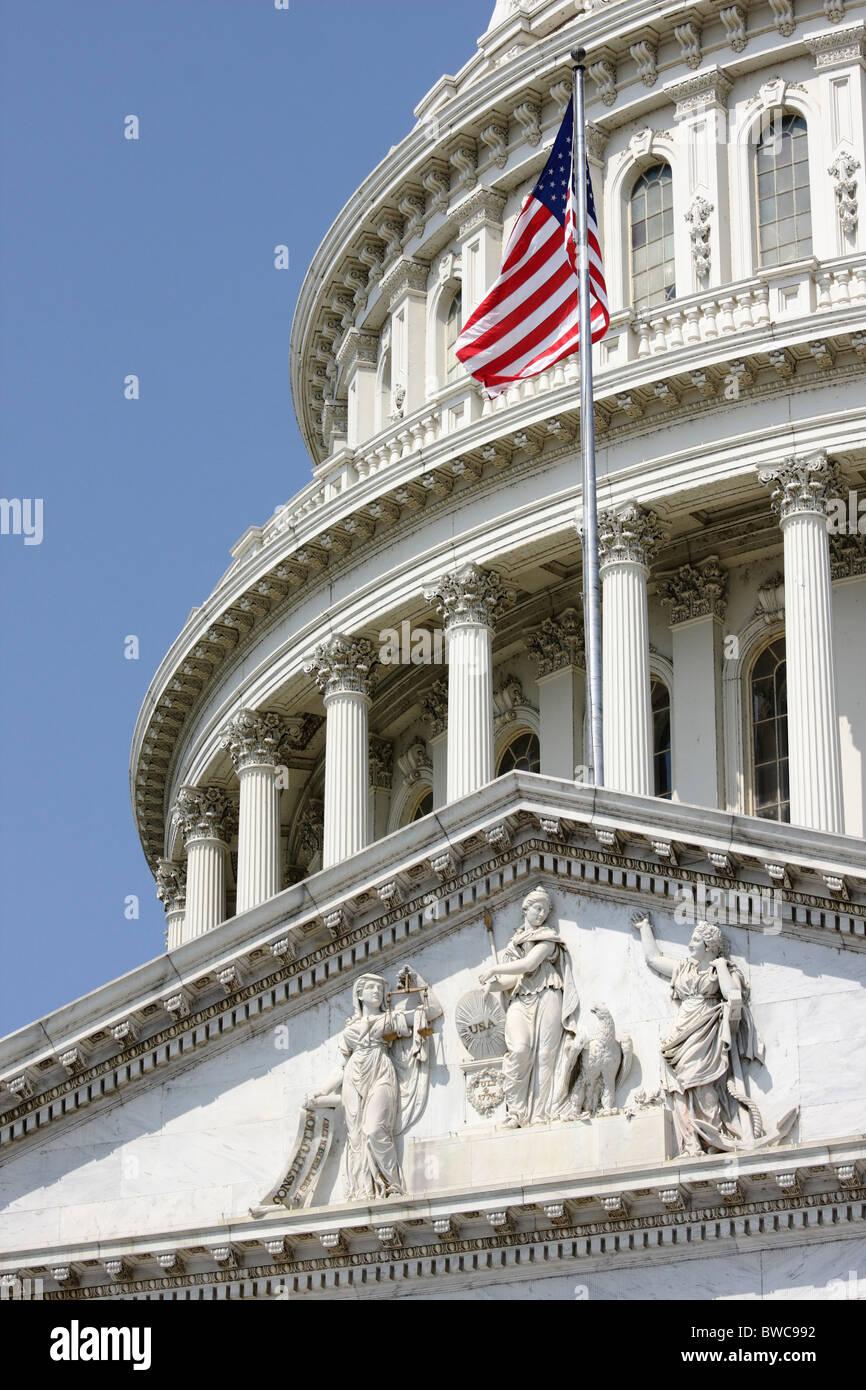 The Genius of America, U.S. Capitol Building, Washington, DC - Stock Image