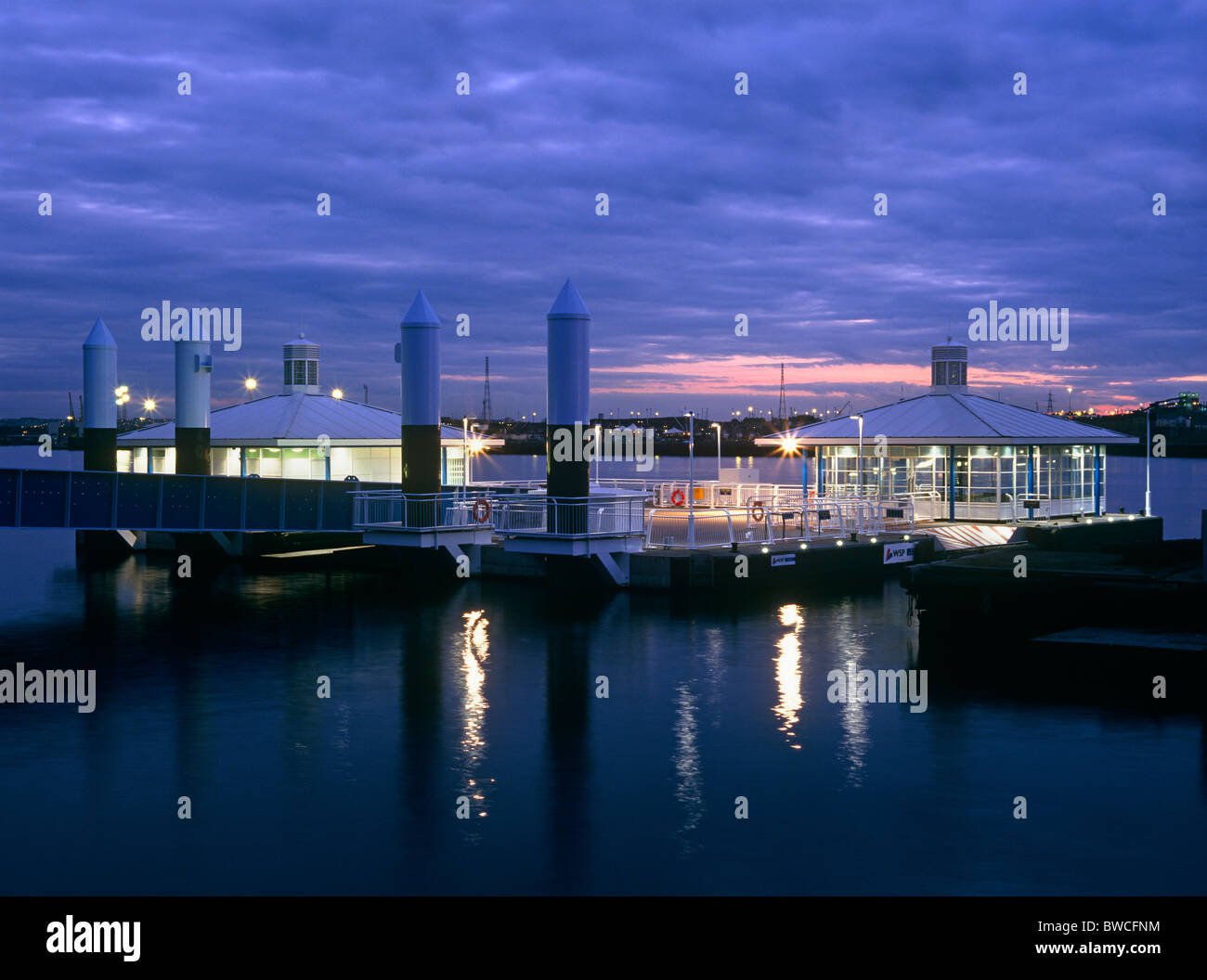 Shields Ferry, South Shields at dusk - Stock Image
