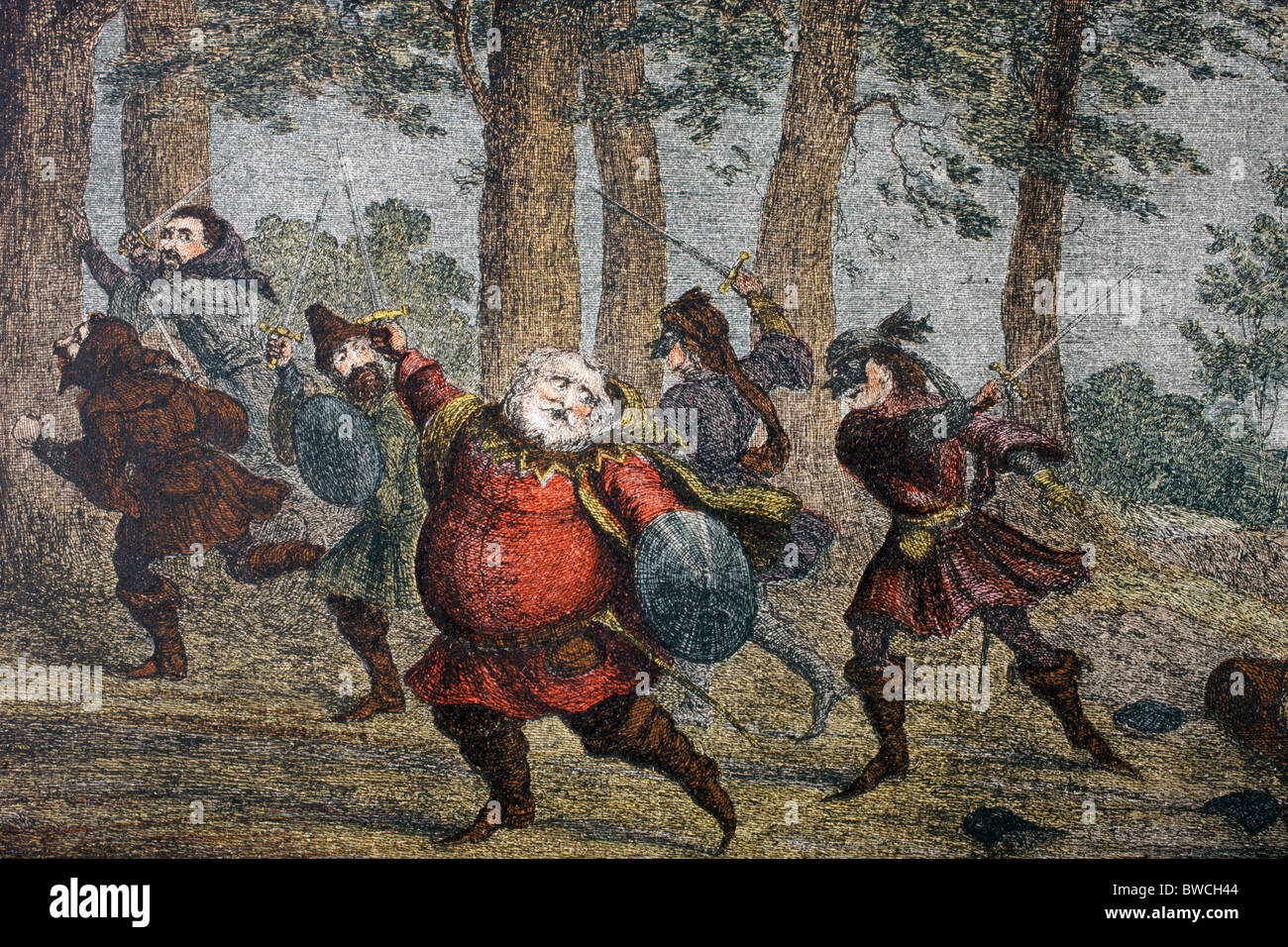 Henry Prince of Wales speaks in King Henry IV Part One, Act IV, Scene II, by William Shakespeare. - Stock Image