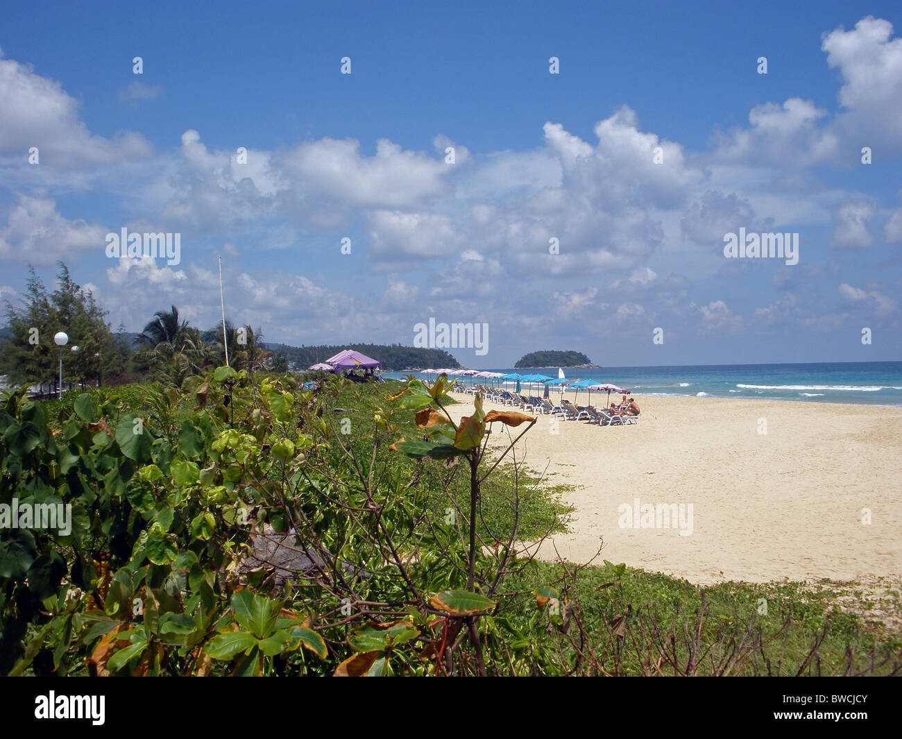 View along Karon Beach, Phuket, South Thailand, Far East. - Stock Image