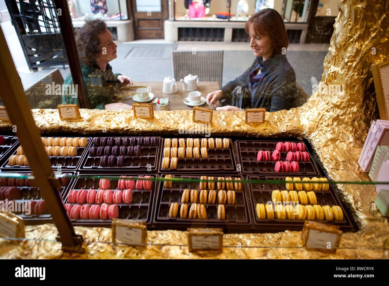 Laduree cake shop, in the Burlington Arcade, Mayfair, London. - Stock Image