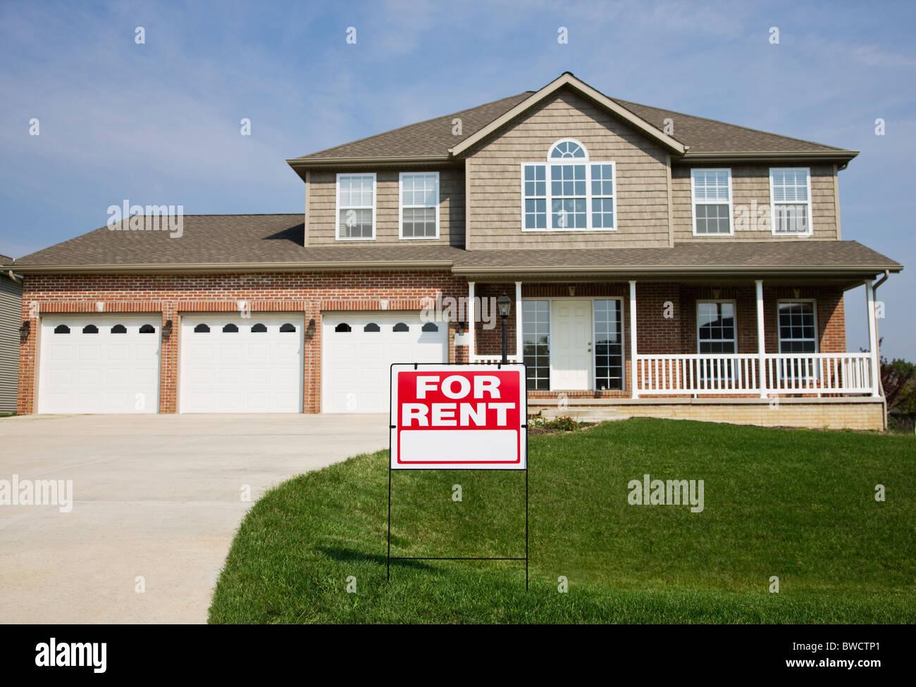 USA, Illinois, Metamora, Suburban house for rent Stock Photo