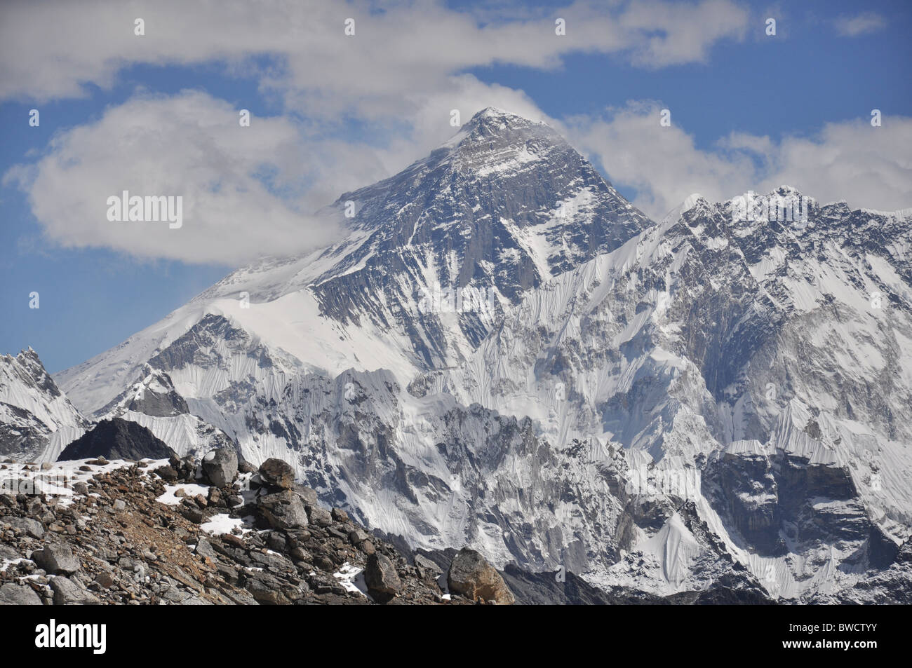 Mount Everest and her sisters - Stock Image
