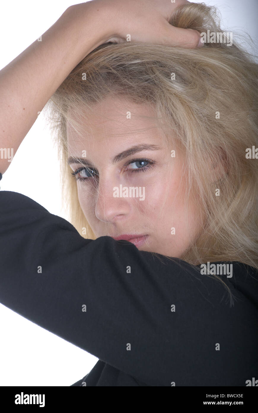 German woman portrait - Stock Image