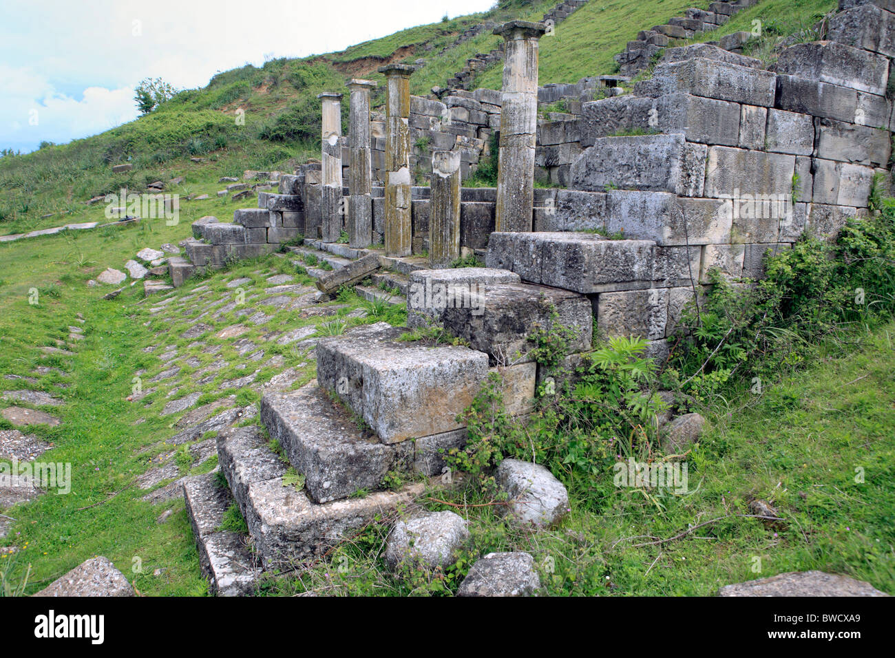 Apollonia, Nymphaeum (fountain) (3 century BC), district Fier, Albania - Stock Image