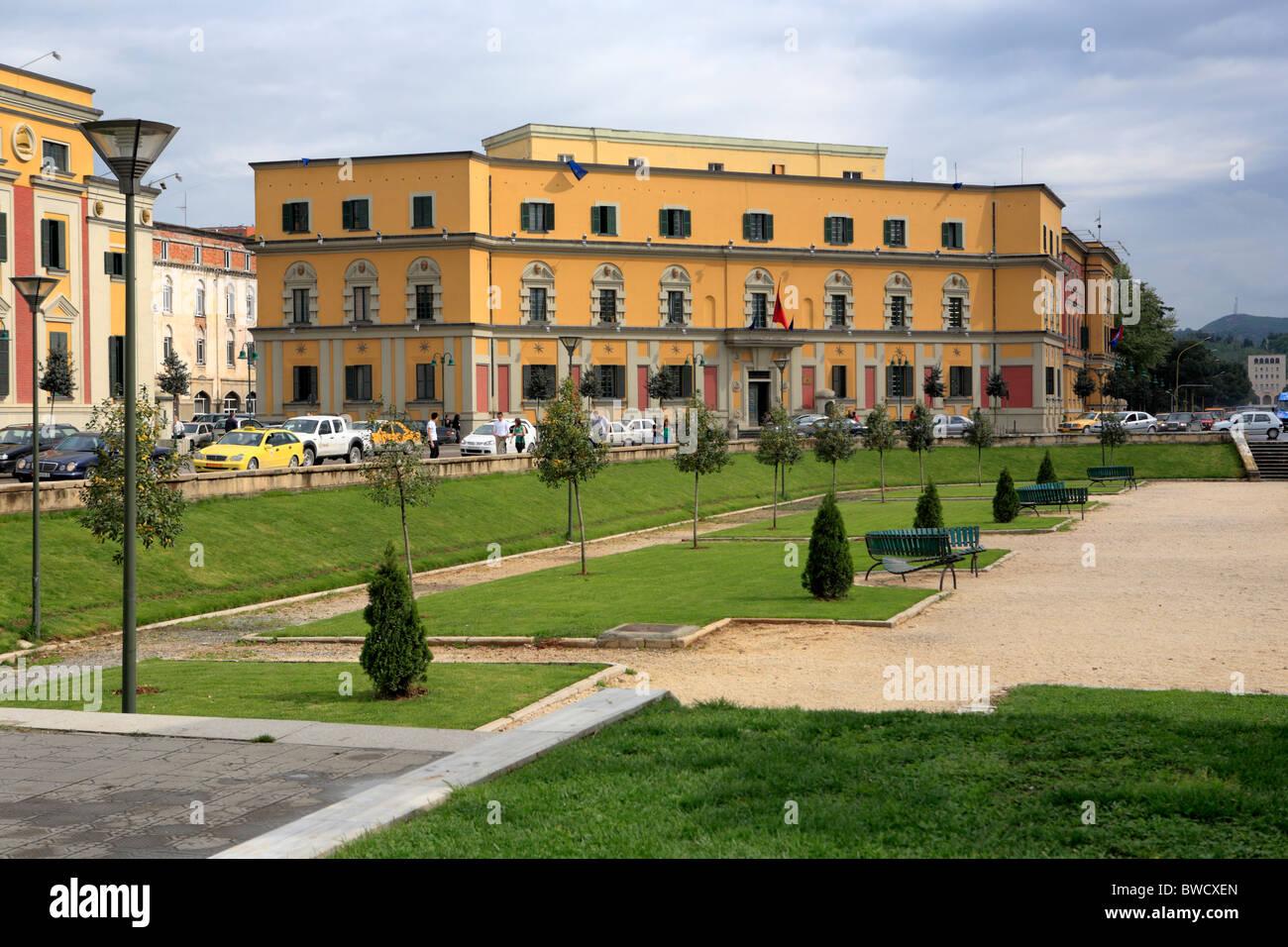Skanderbeg square, Tirana (Tirane), Albania - Stock Image
