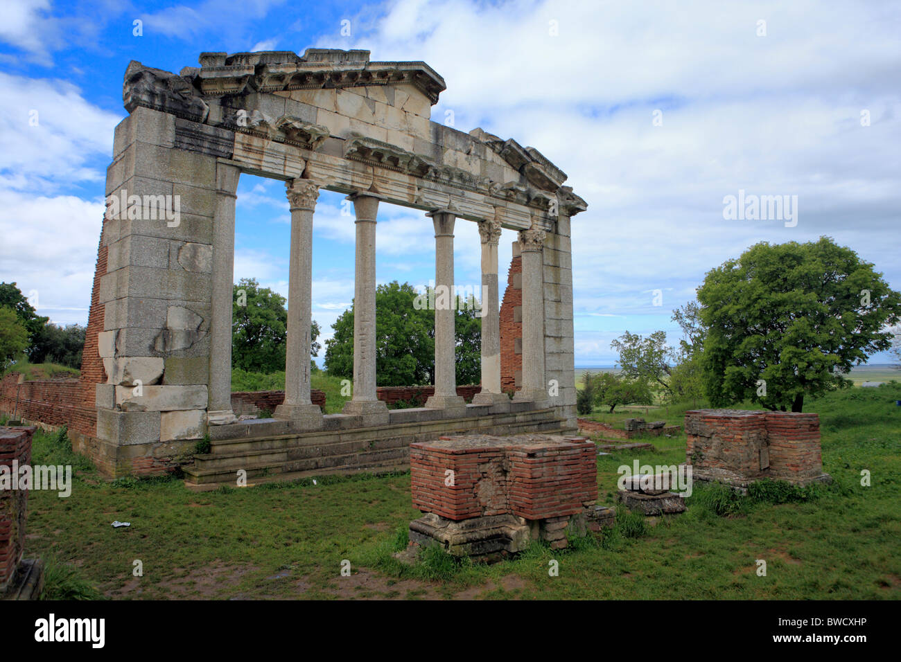 Temple Ruins (monument of Agonothetes), Apollonia, district Fier, Albania - Stock Image