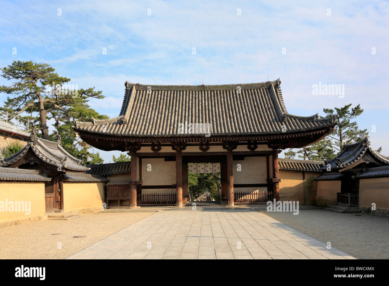 Horyu-ji, Ikaruga (near Nara), Japan - Stock Image