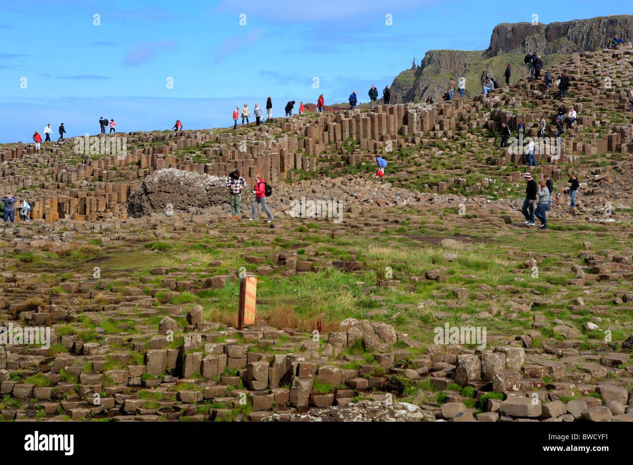 Giant's Causeway, Causeway Coast, Northern Ireland - Stock Image
