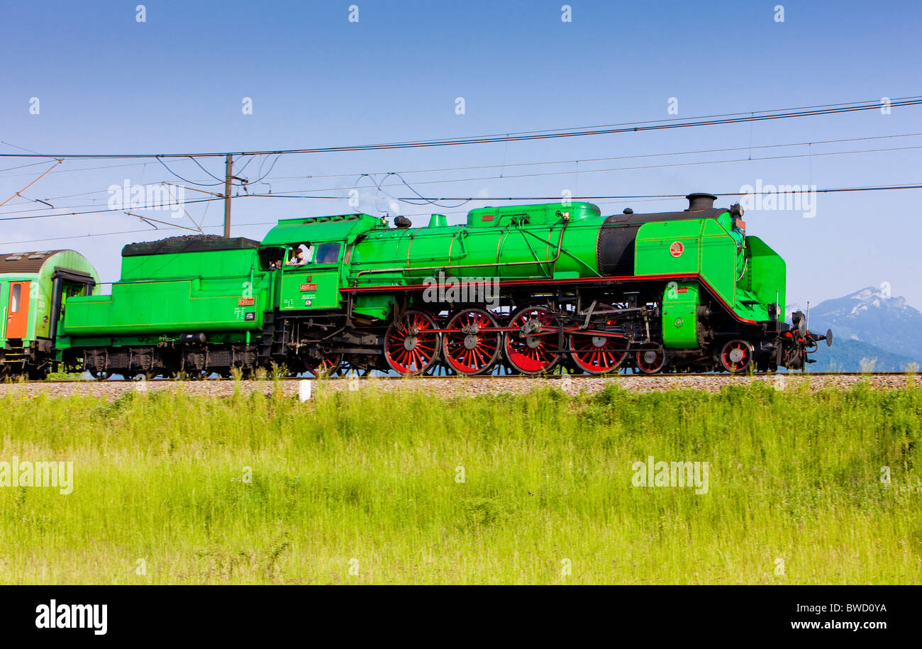 steam locomotive Green Anton (486.007), Slovakia - Stock Image