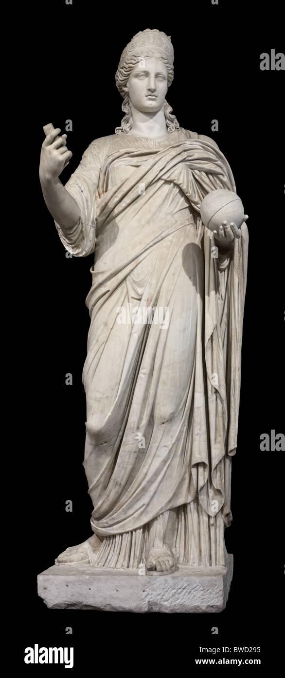 Juno Roman Goddess Statue cutout Louvre Museum Paris - Stock Image