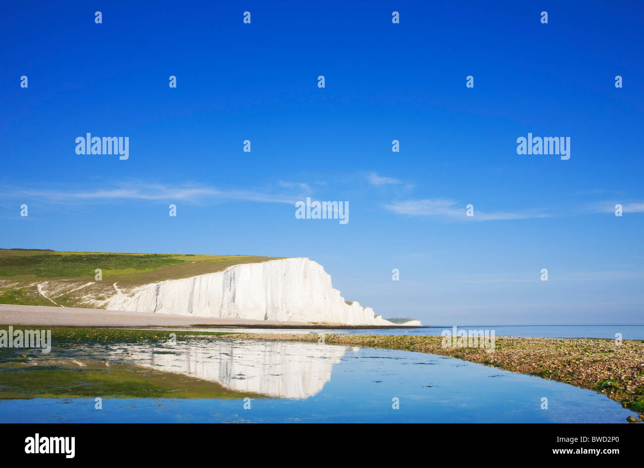 Seven Sisters; East Sussex; England, Great Britain - Stock Image