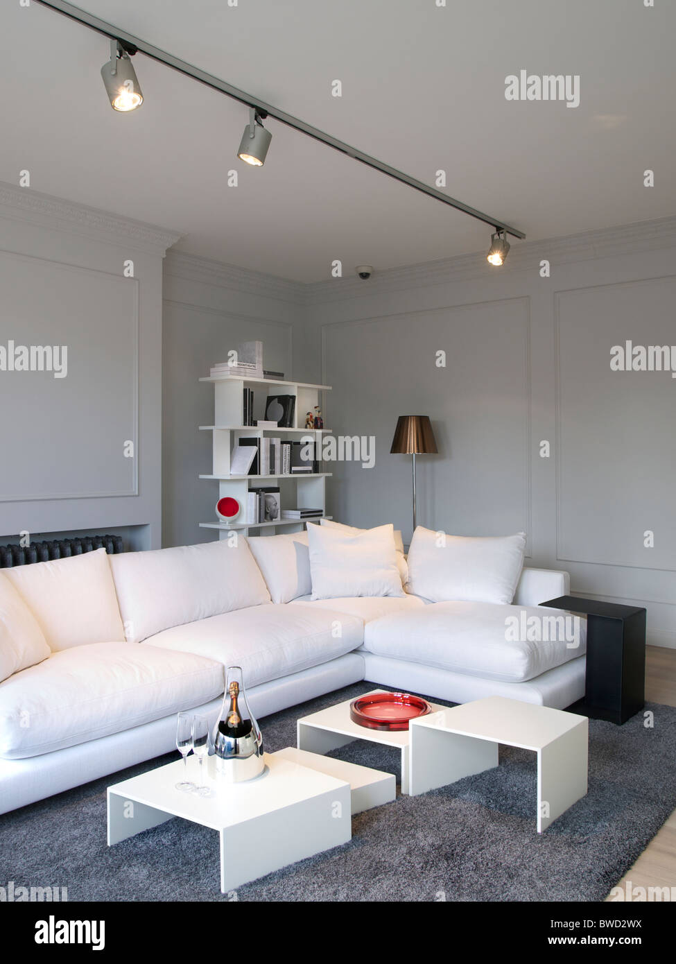 Luxurious livingroom combining old style room with modern design furniture mol belgium stock