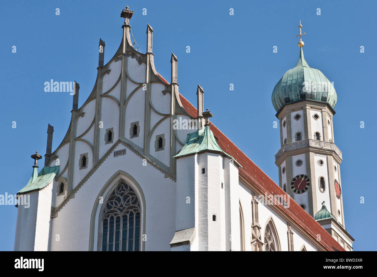 ST. ULRICH UND AFRA CHURCH, CATHEDRAL, LATE-GOTHIC STYLE, AUGSBURG, BAVARIA, GERMANY - Stock Image