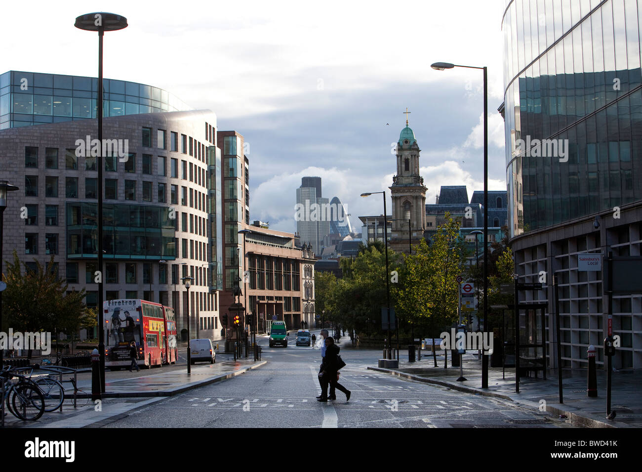 View of the city, London, UK - Stock Image
