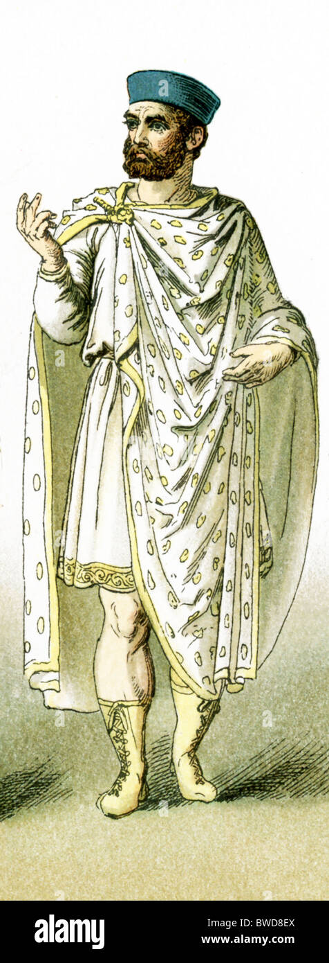 A Roman Christian man who lived after A.D. 330, when Christianity became the religion of the Roman Empire. - Stock Image